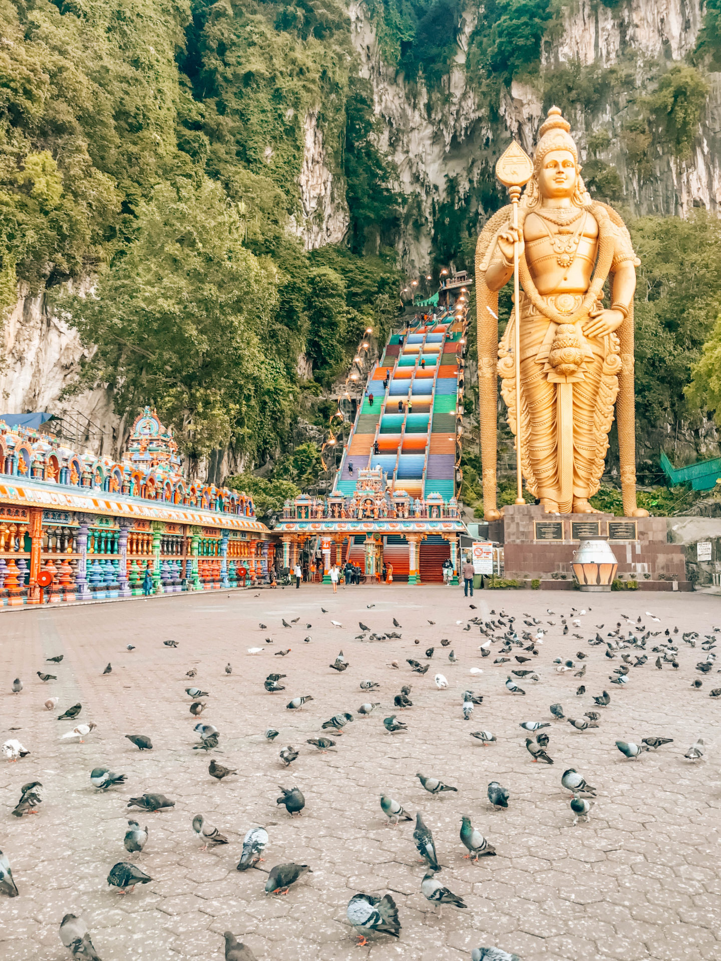 Batu Caves at sunrise, a must-do when in Kuala Lumpur