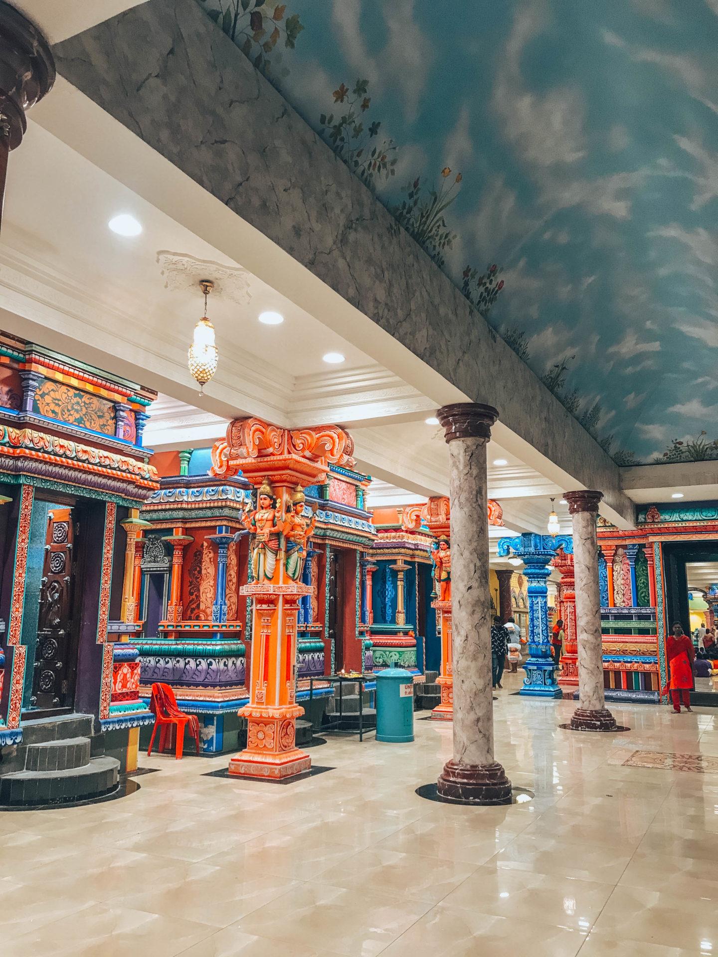 Inside of the Batu Caves temples in Kuala Lumpur