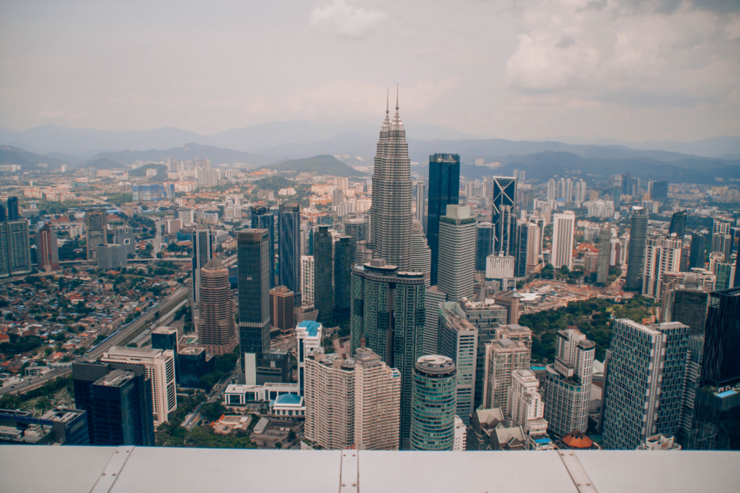Skyline view on top of Menara tower in Kuala Lumpur
