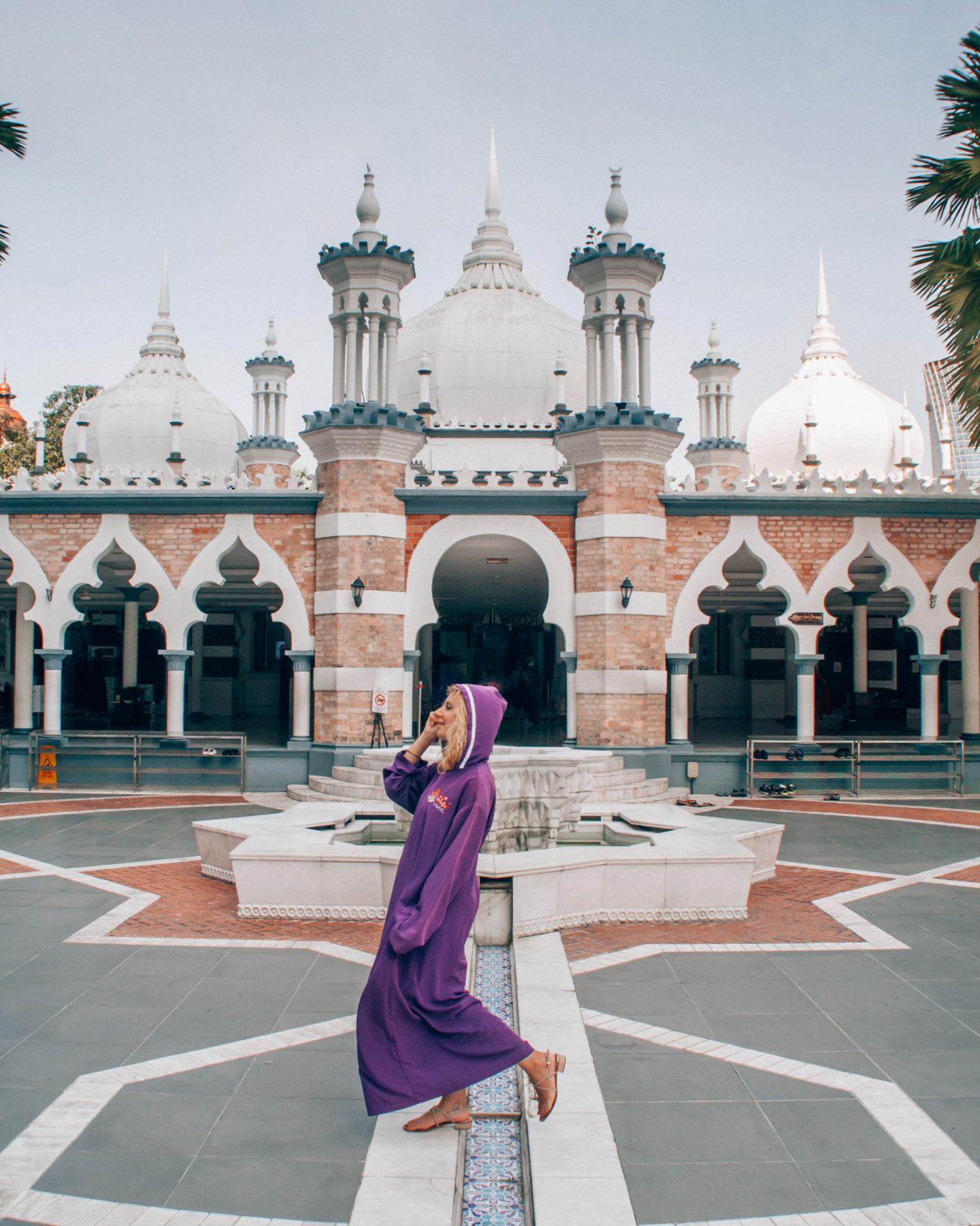 Masjid Jamek, the most ancient mosque of Kuala Lumpur