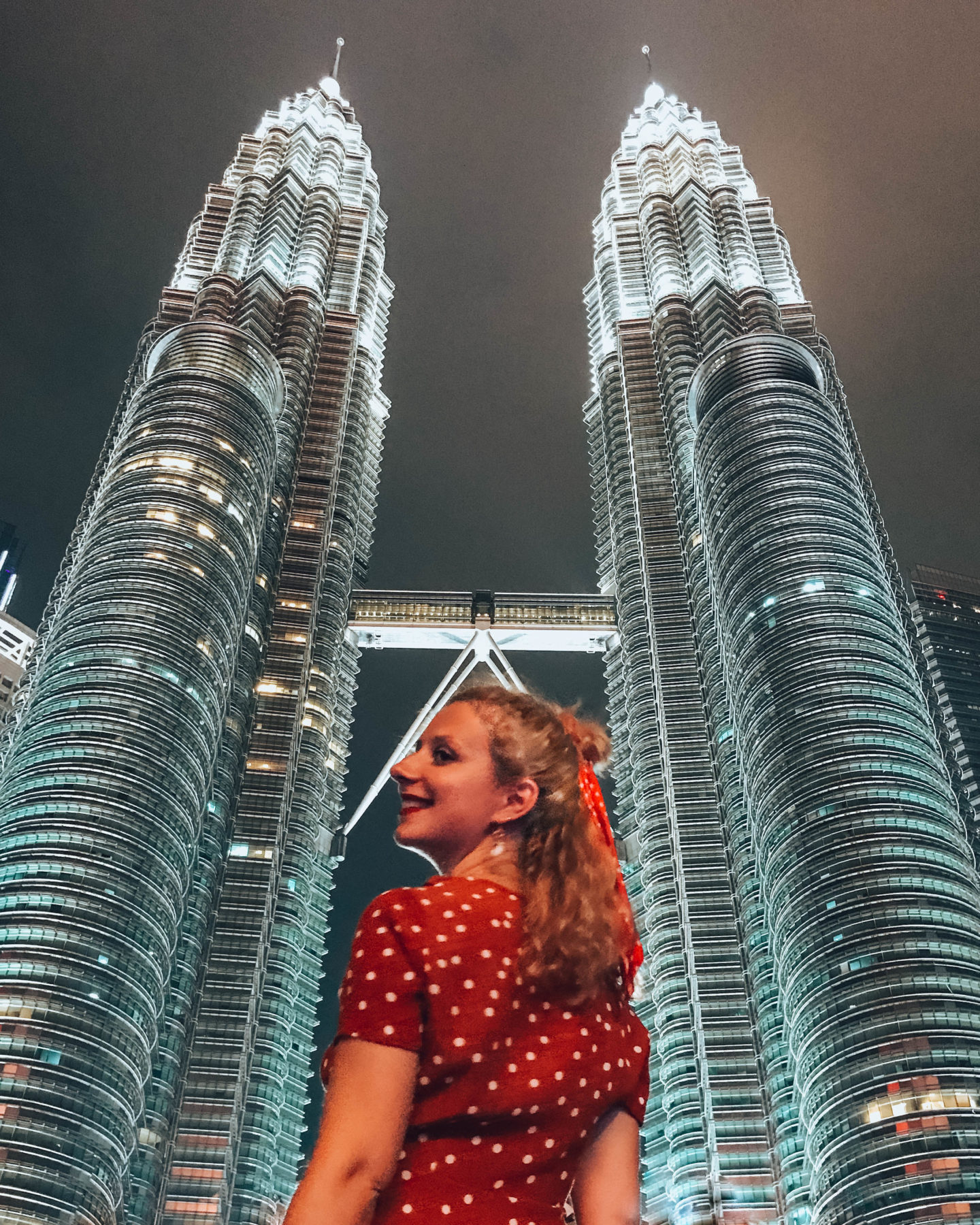 The Petronas Twin Towers by night in Kuala Lumpur