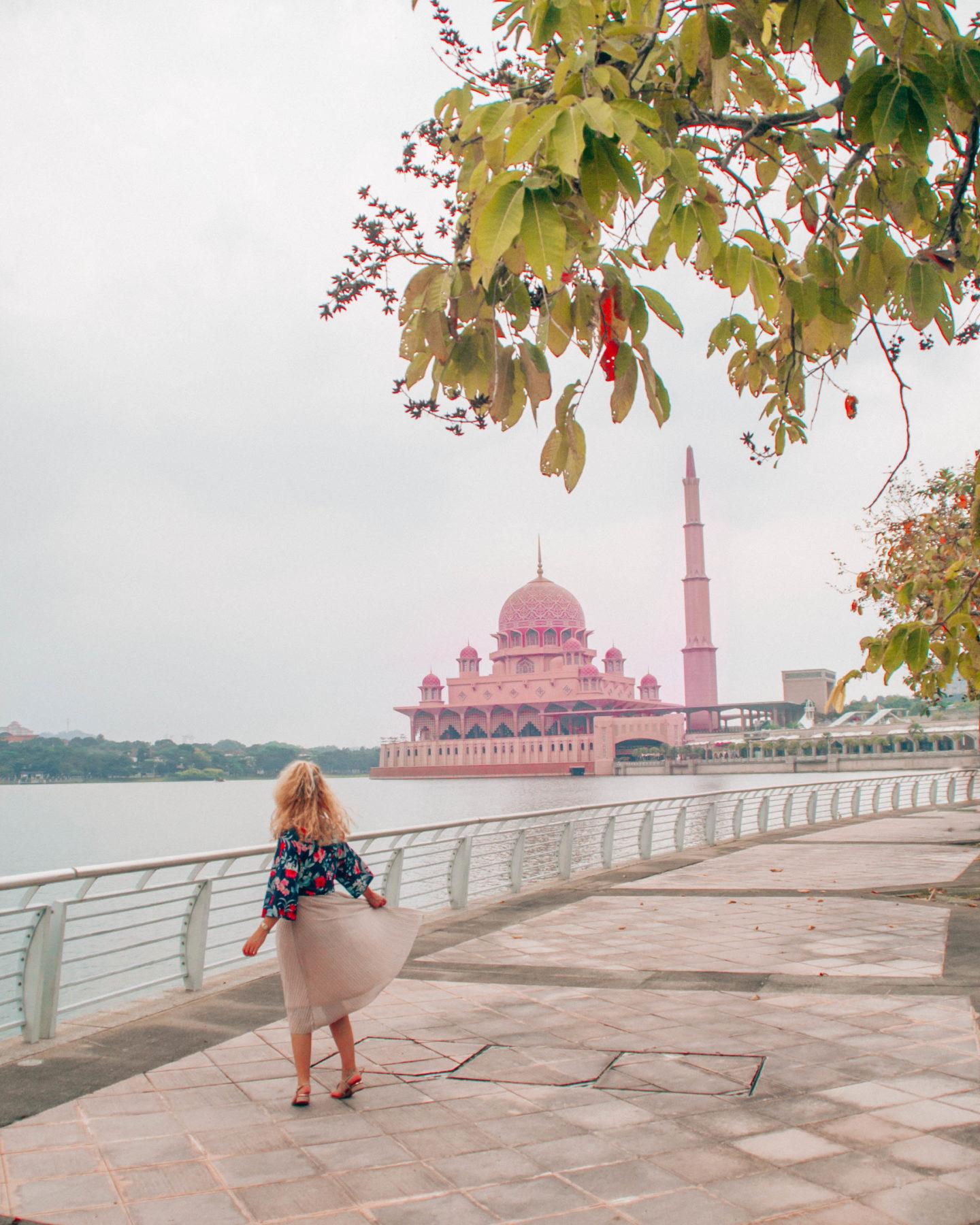 Pink Putra mosque in Kuala Lumpur