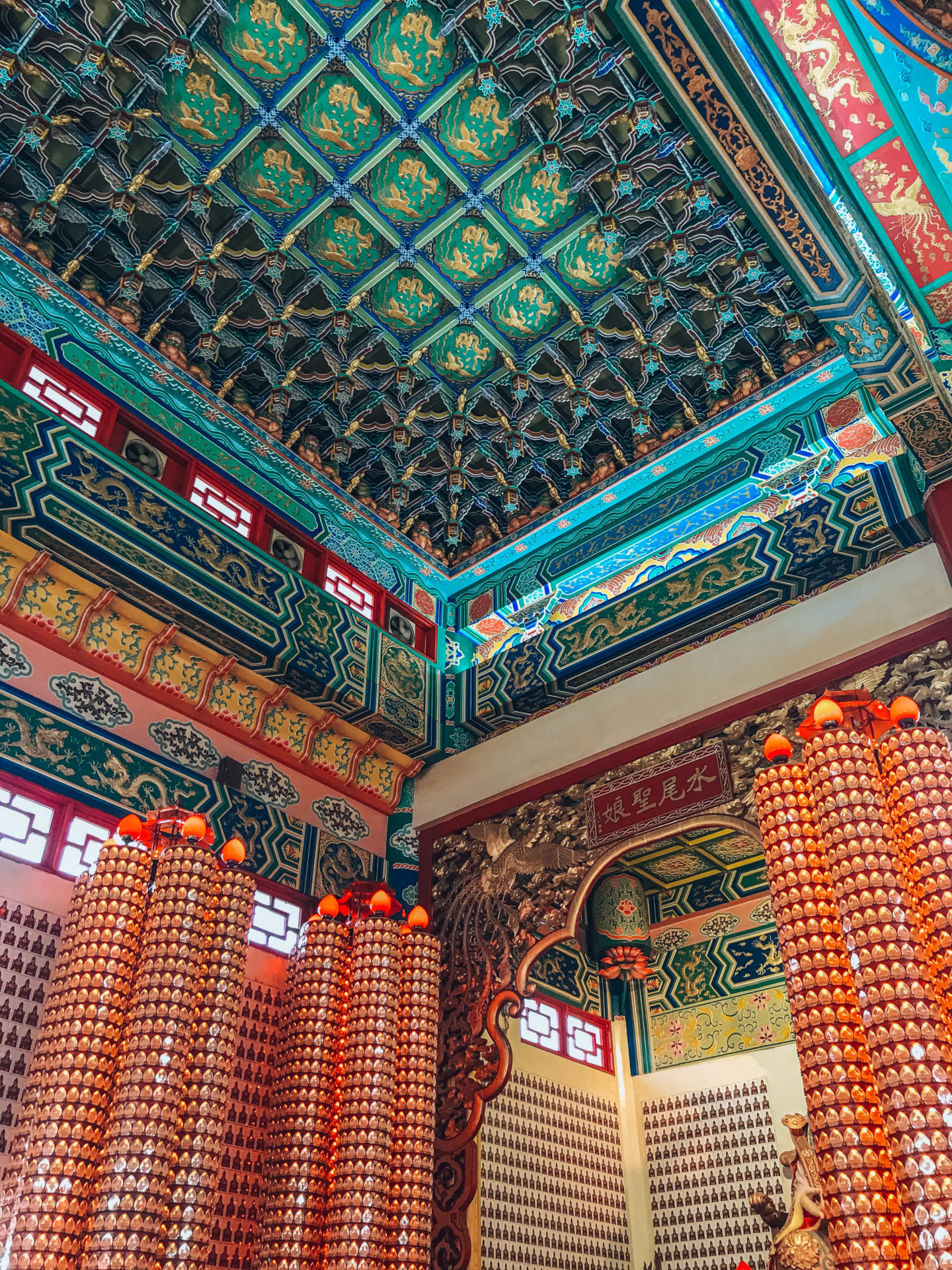 Ceiling inside Thean Hou Temple
