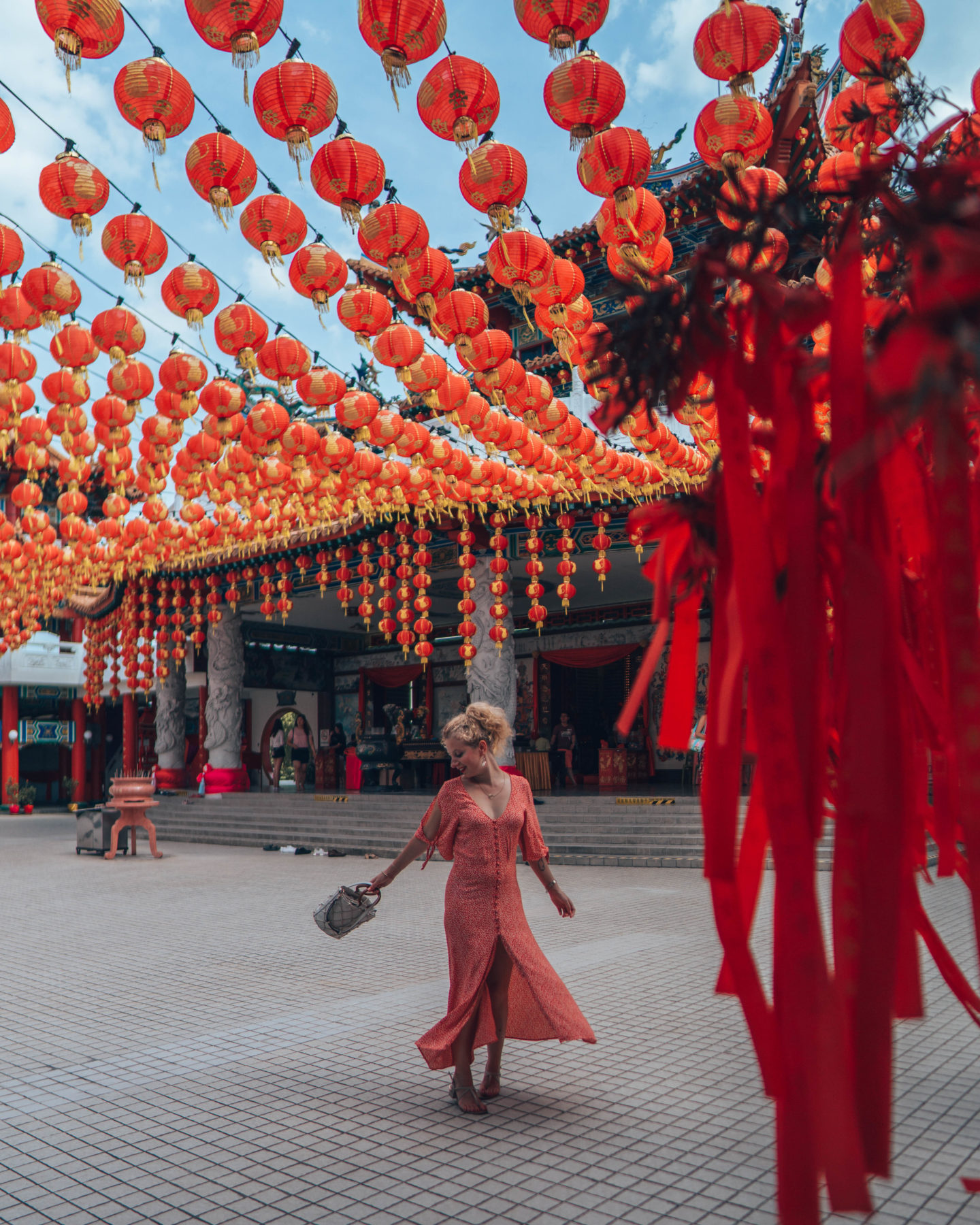 Red lanterns of Thean Hou Temple