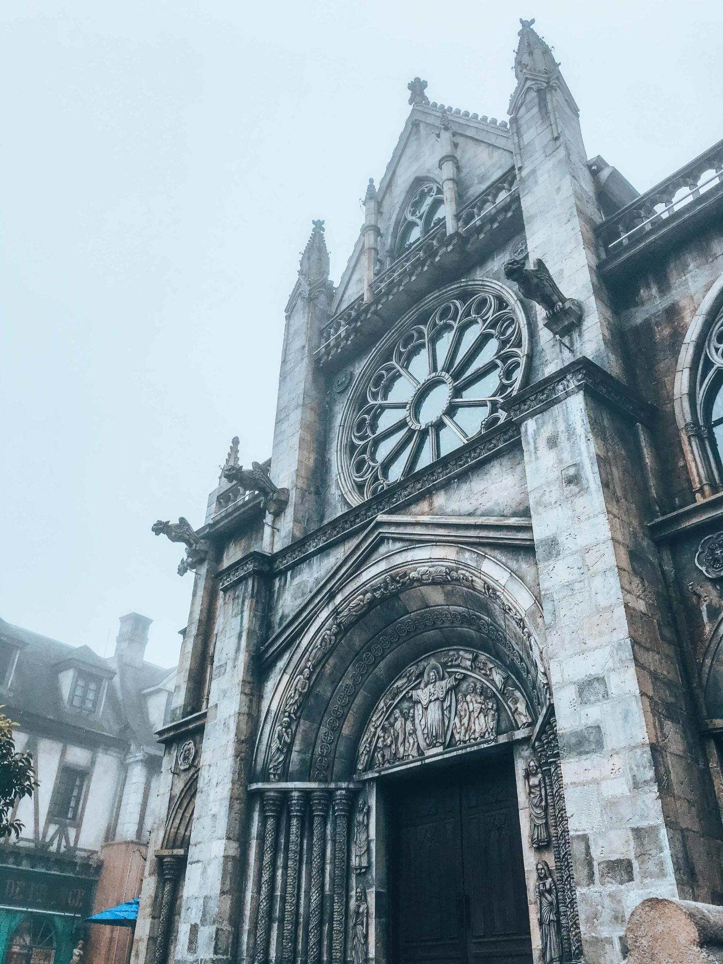 The French village church in Sun World Ba Na Hills