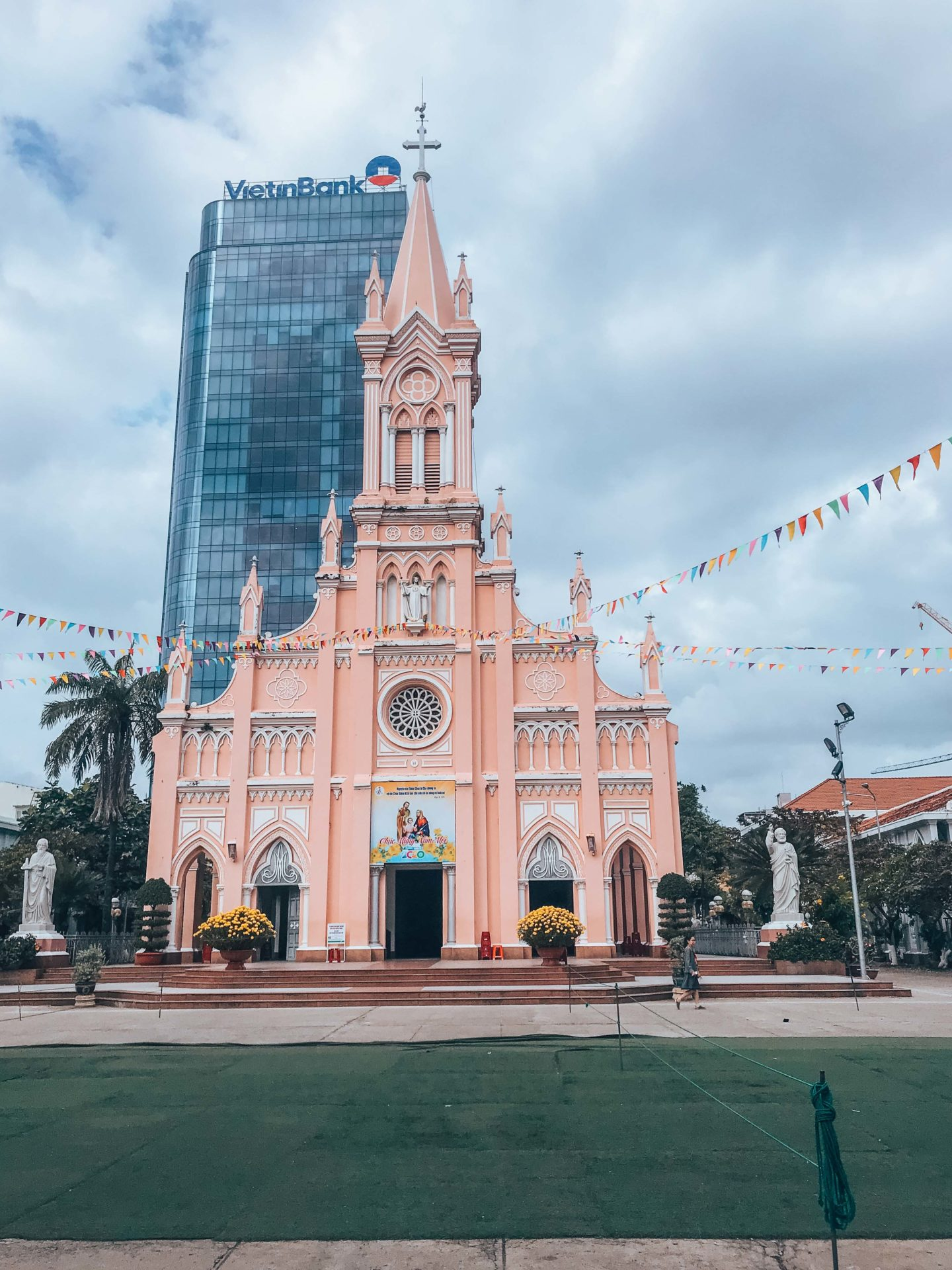 The pretty Pink Church in Da Nang Center, Vietnam
