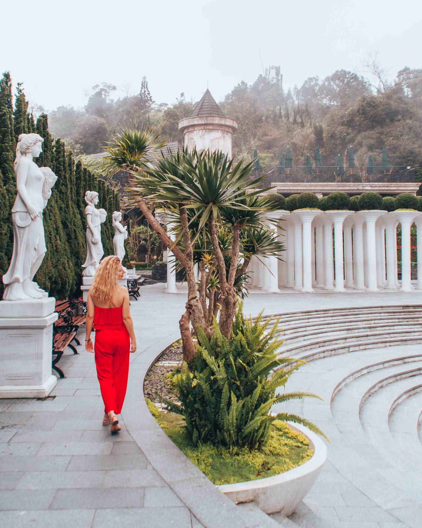 Italian gardens in Ba Na Hills Sun World, Da Nang