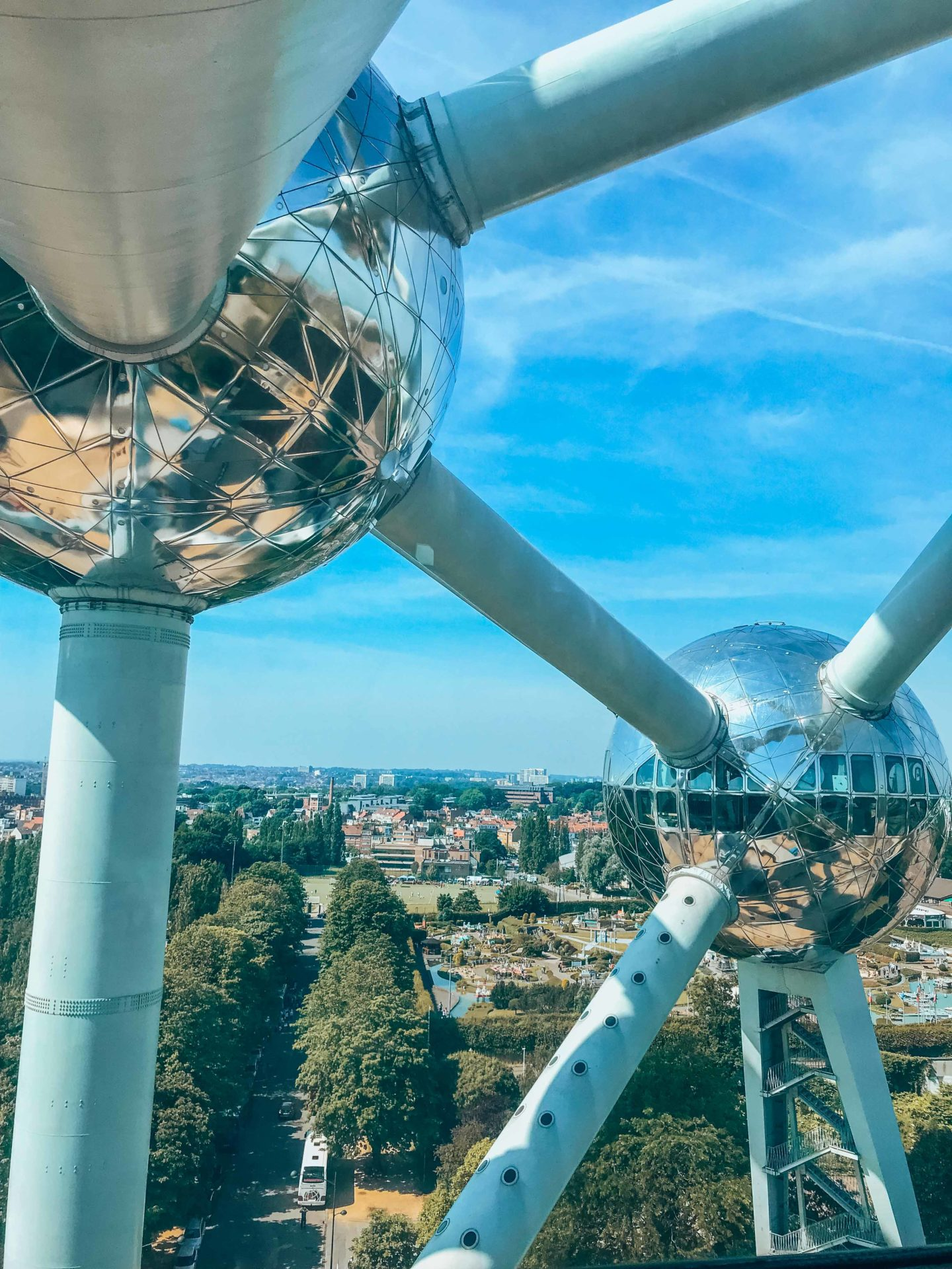 View on Brussels from the Atomium