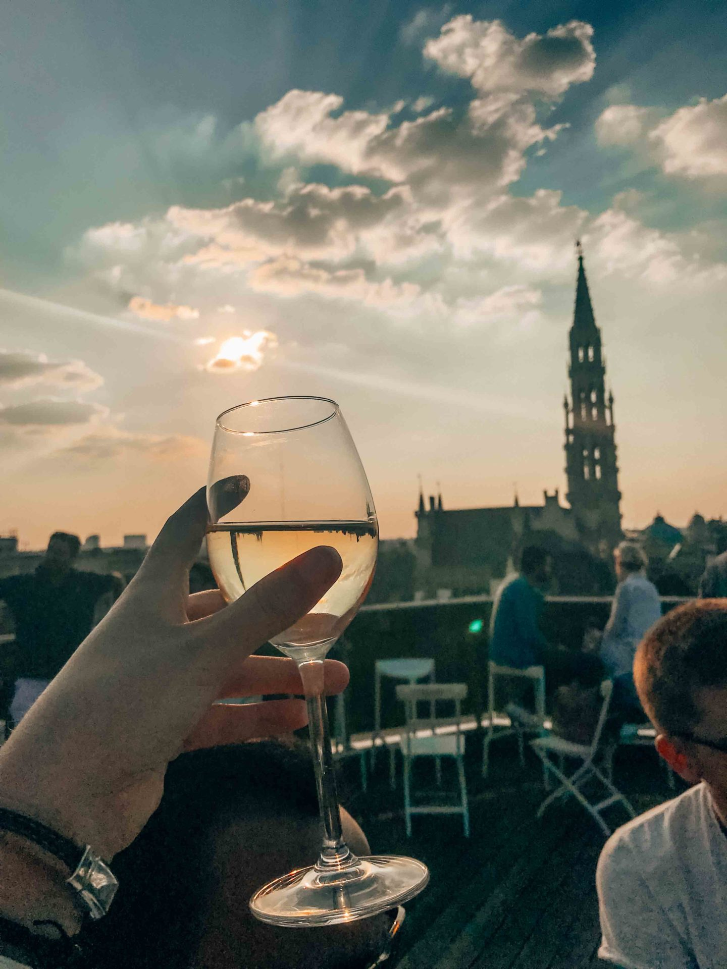 Best rooftop in Brussels at sunset