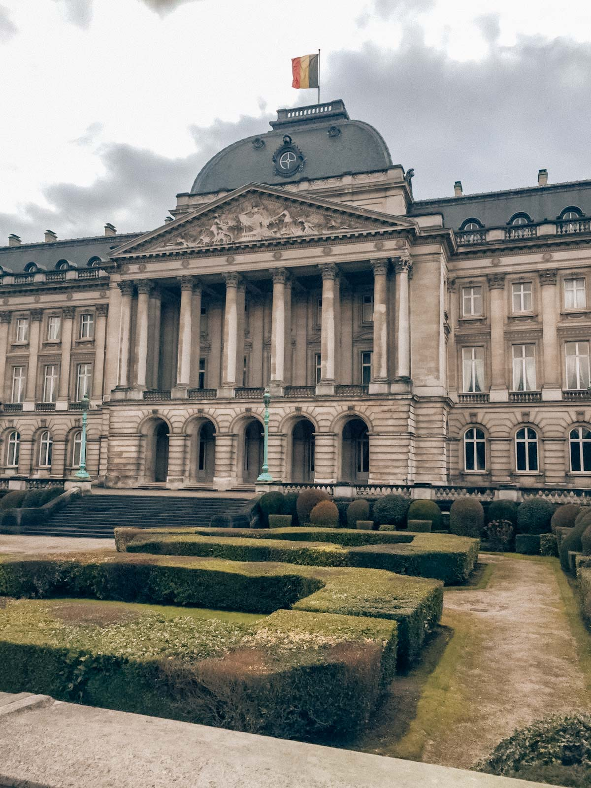 The Royal Palace in Brussels from the facade