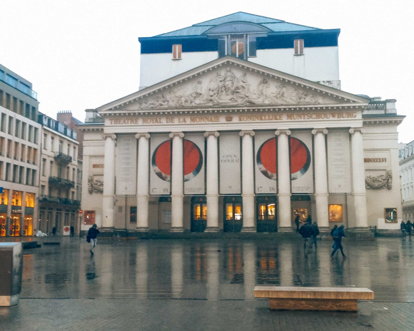 La Monnaie square in Brussels