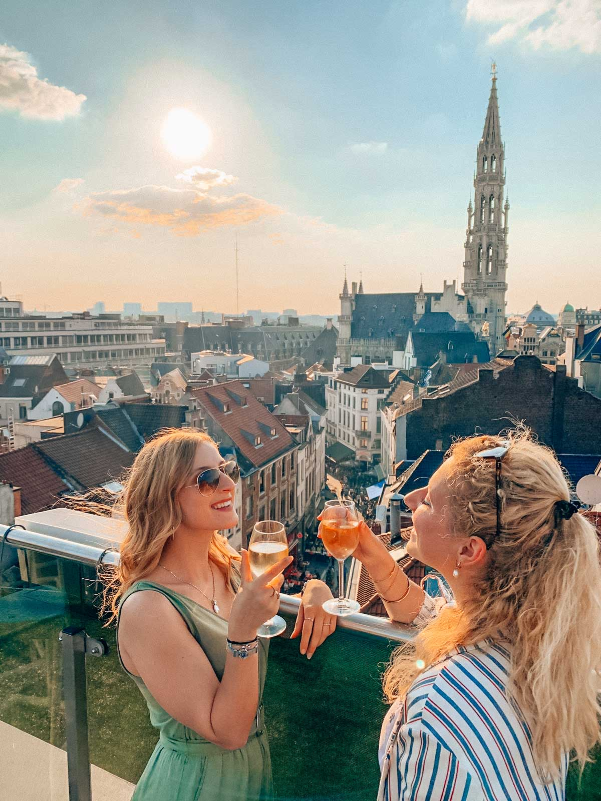 Rooftop drinks with the best view of Brussels