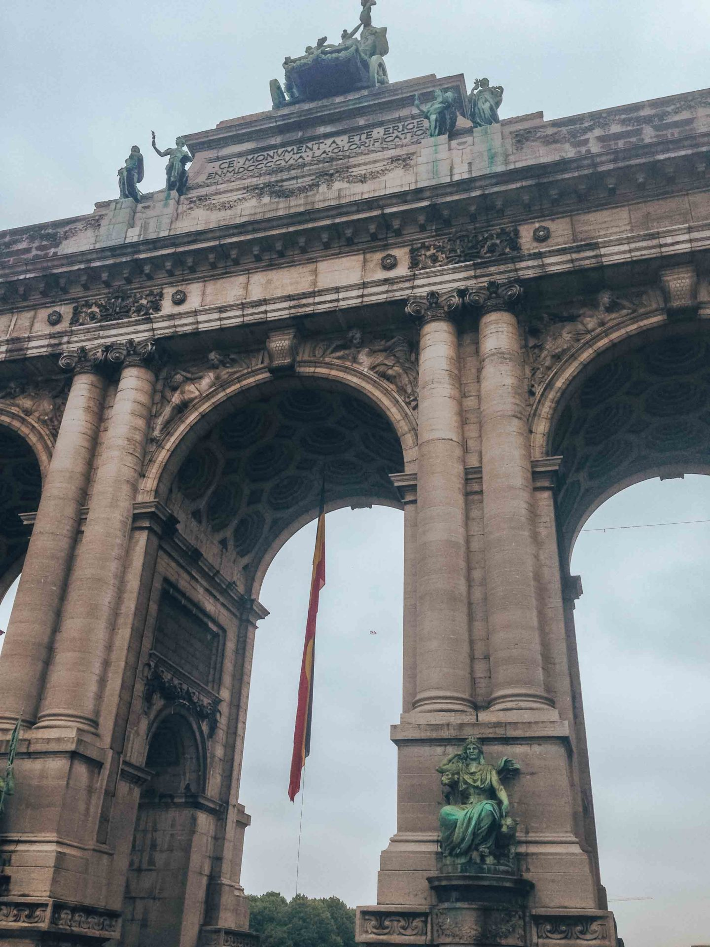 The arch of Cinquantenaire park in Brussels