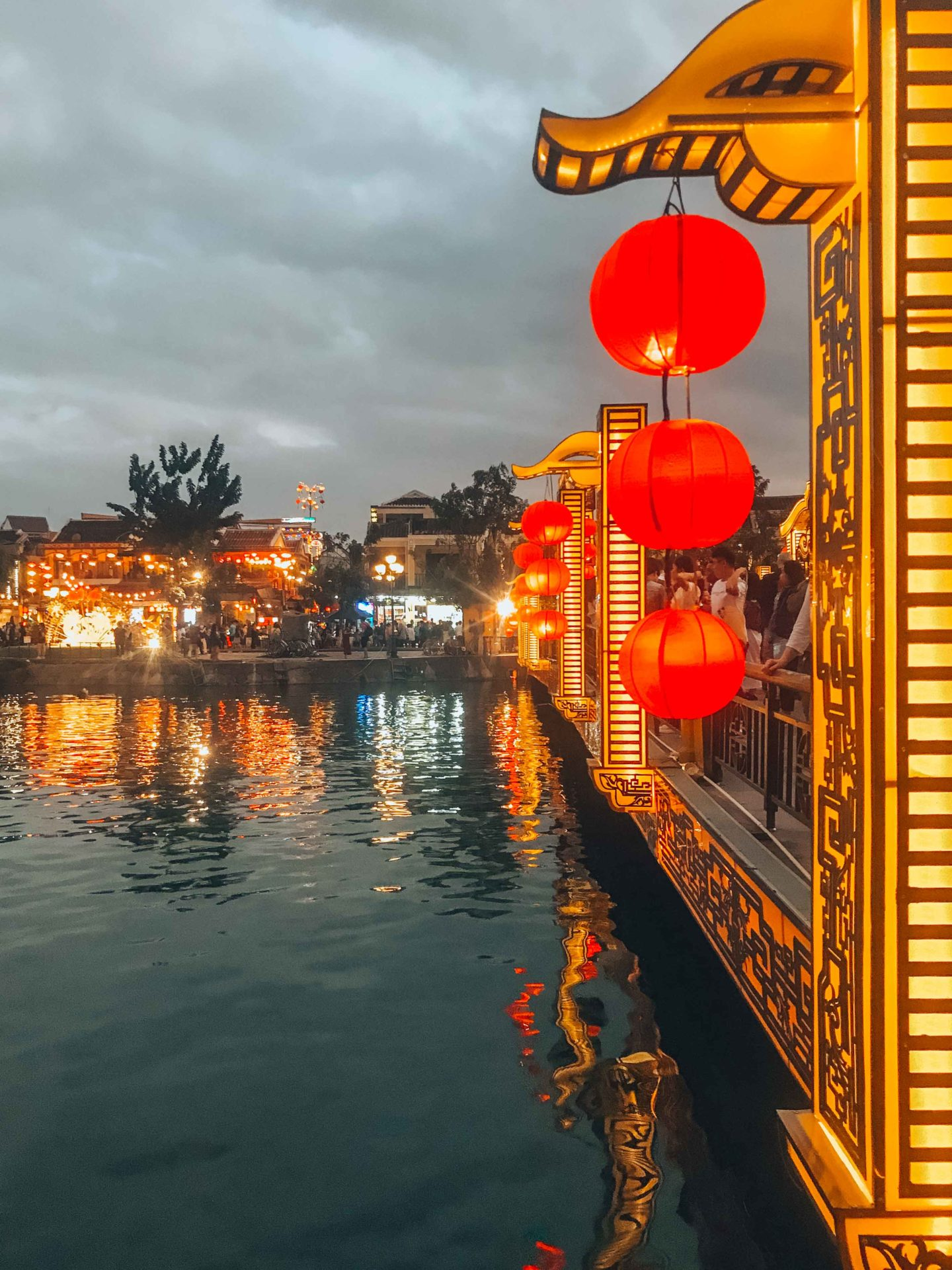 The bridge of lights by night in Hoi An, Vietnam