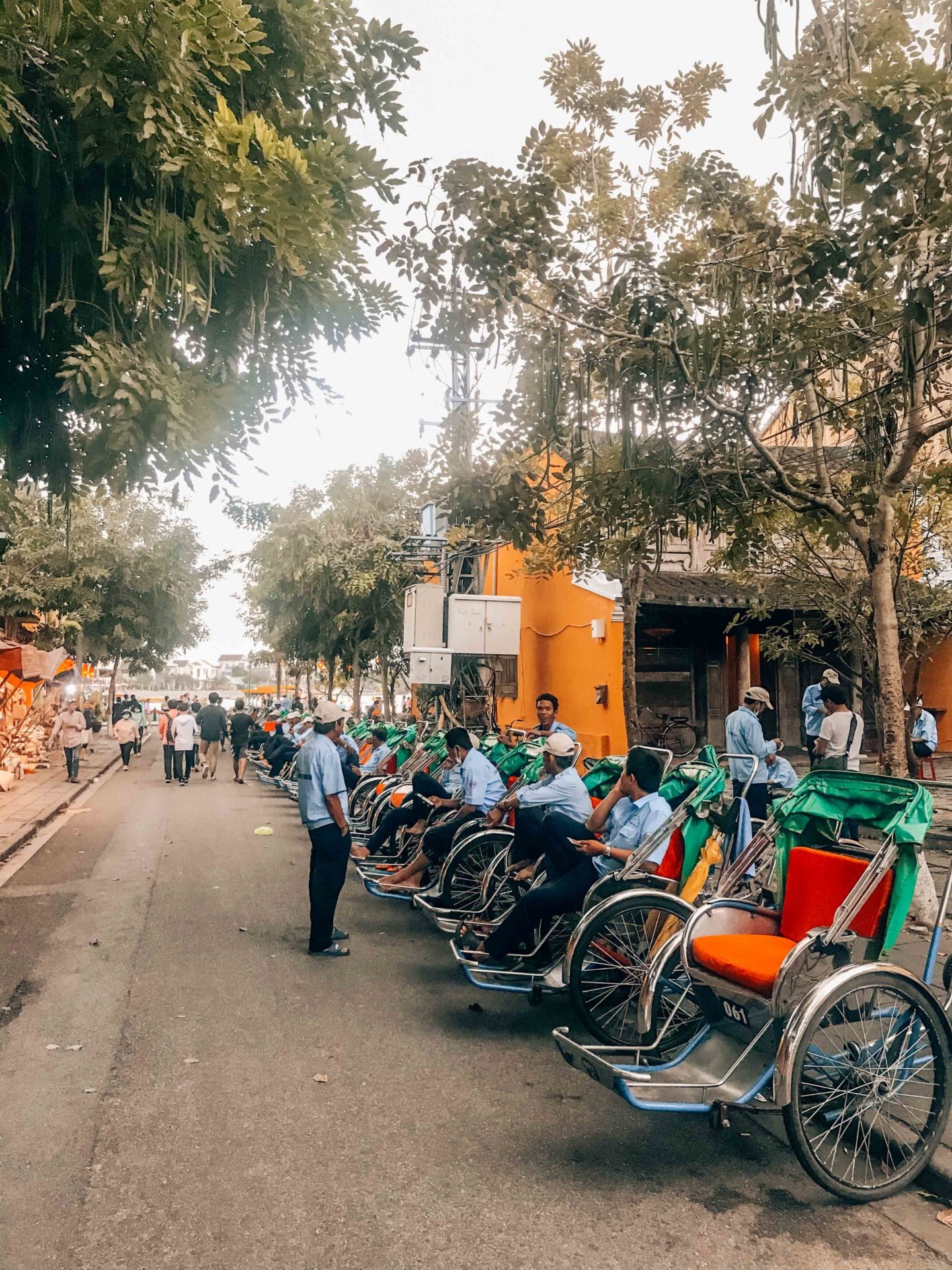 The amount of rickshaws in Hoi An, Vietnam