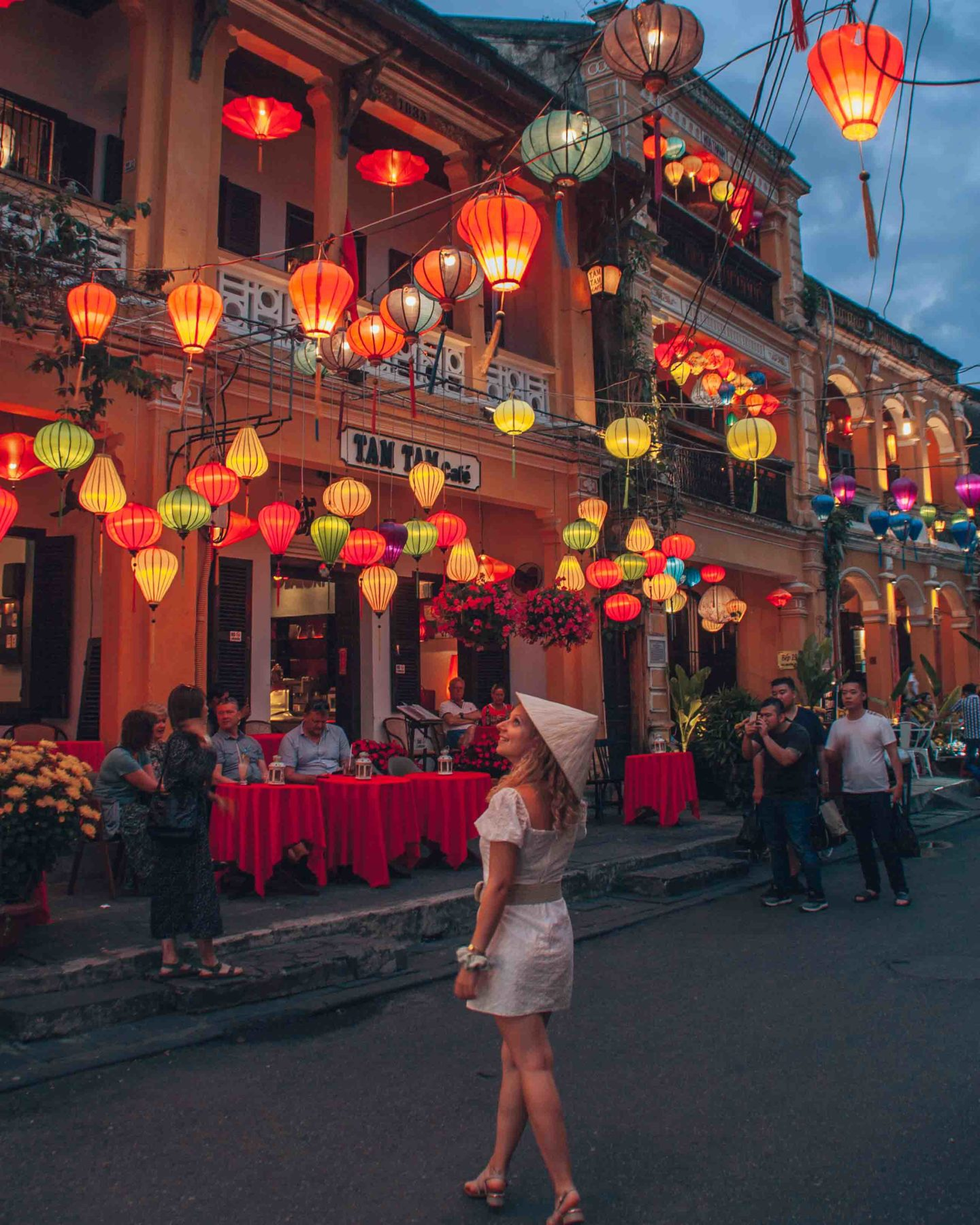 Hoi An Ancient Town illuminated with lanterns by night