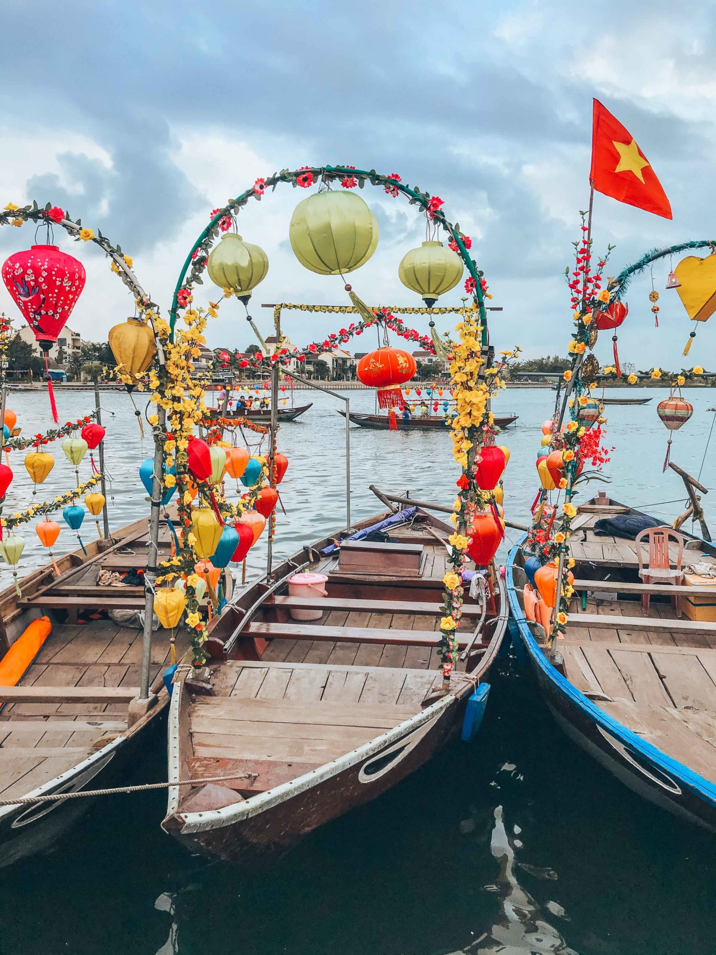 Take a lantern boat tour at sunset in Hoi An, Vietnam