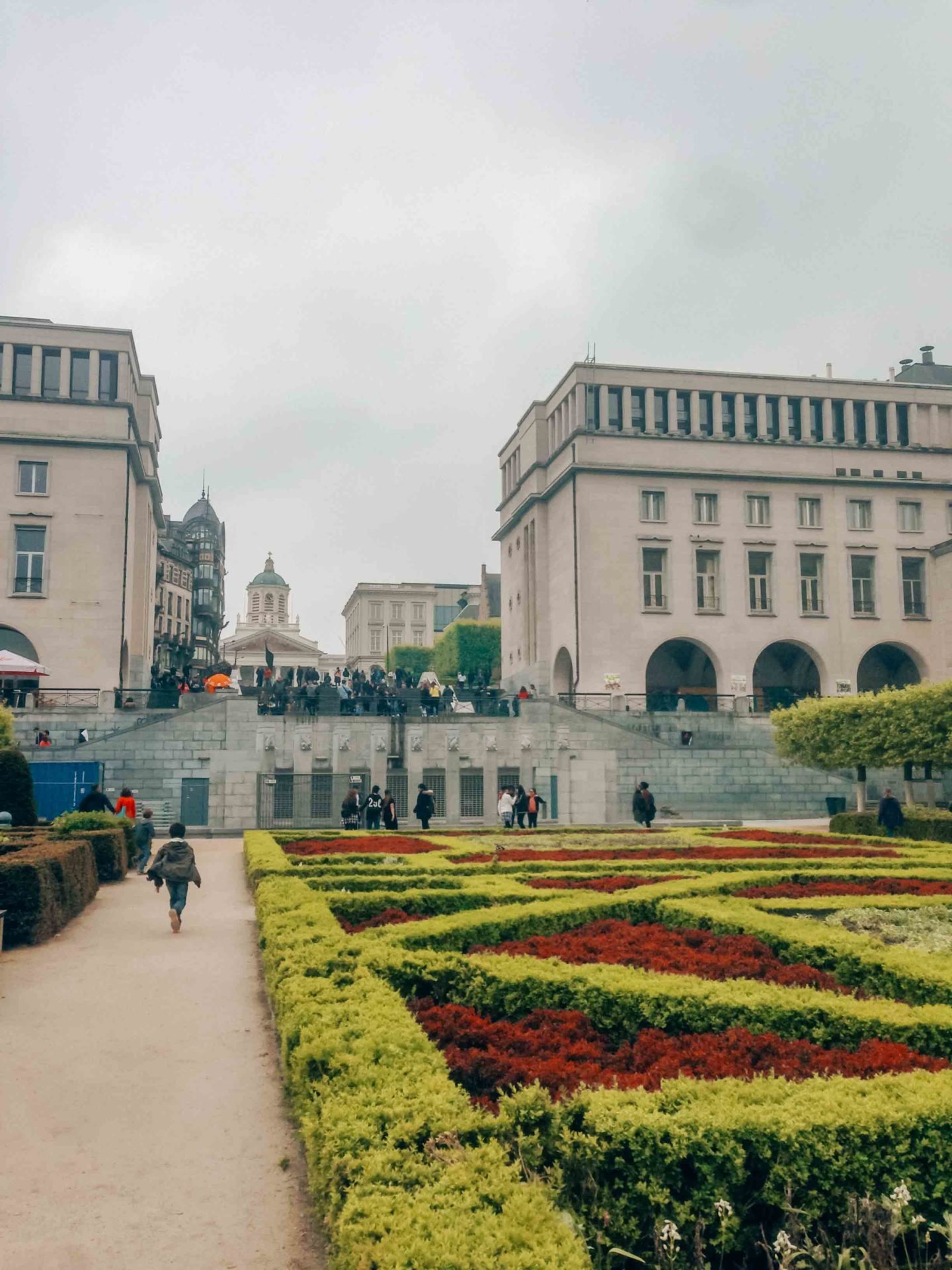 Mont des Arts gardens in Brussels