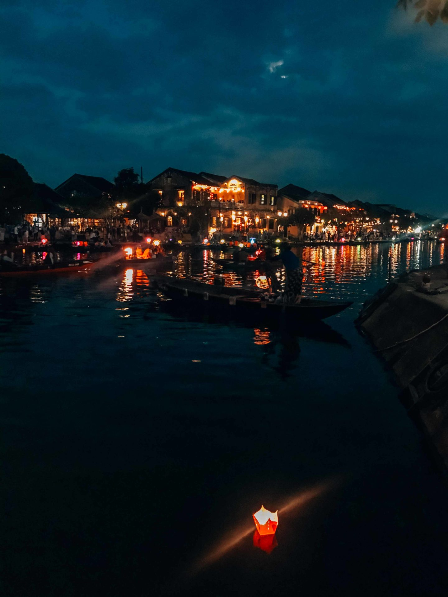 Night Market view in Hoi An, Vietnam