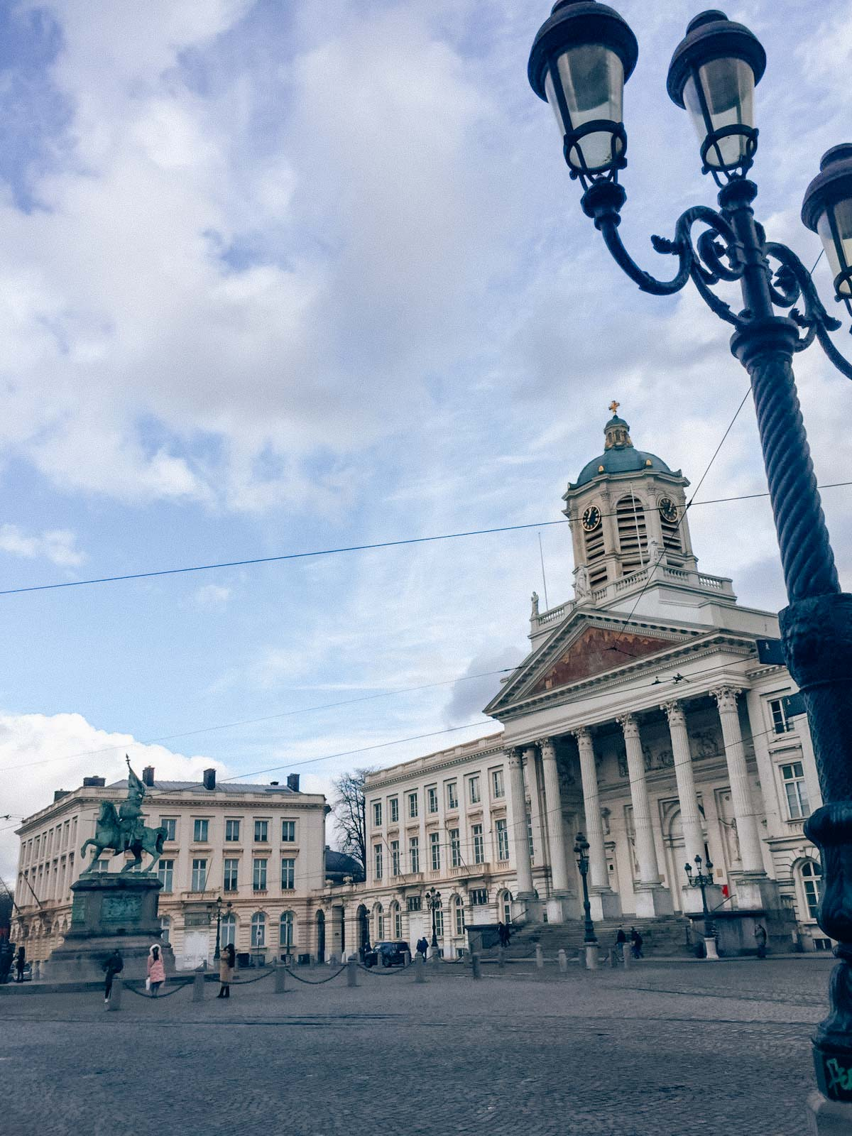 View on the Place Royale of Brussels from the side