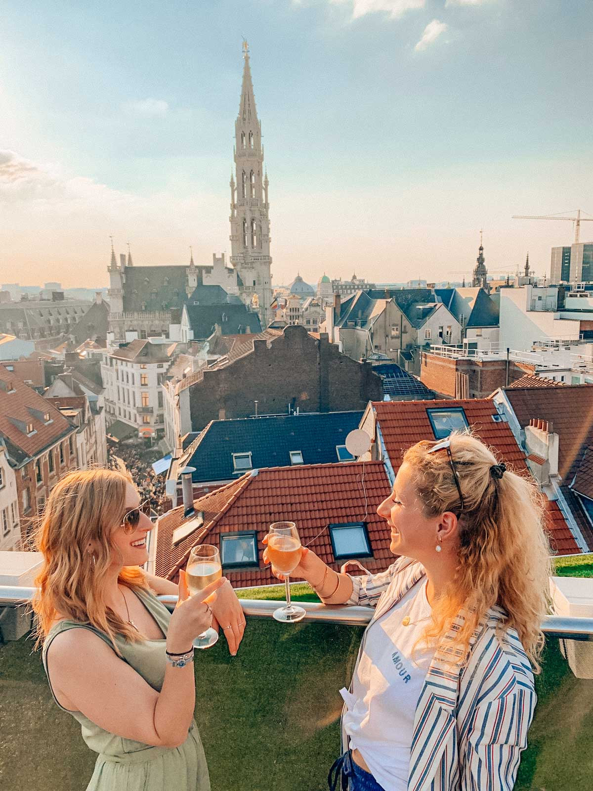 Weekend in Brussels, have a rooftop drink
