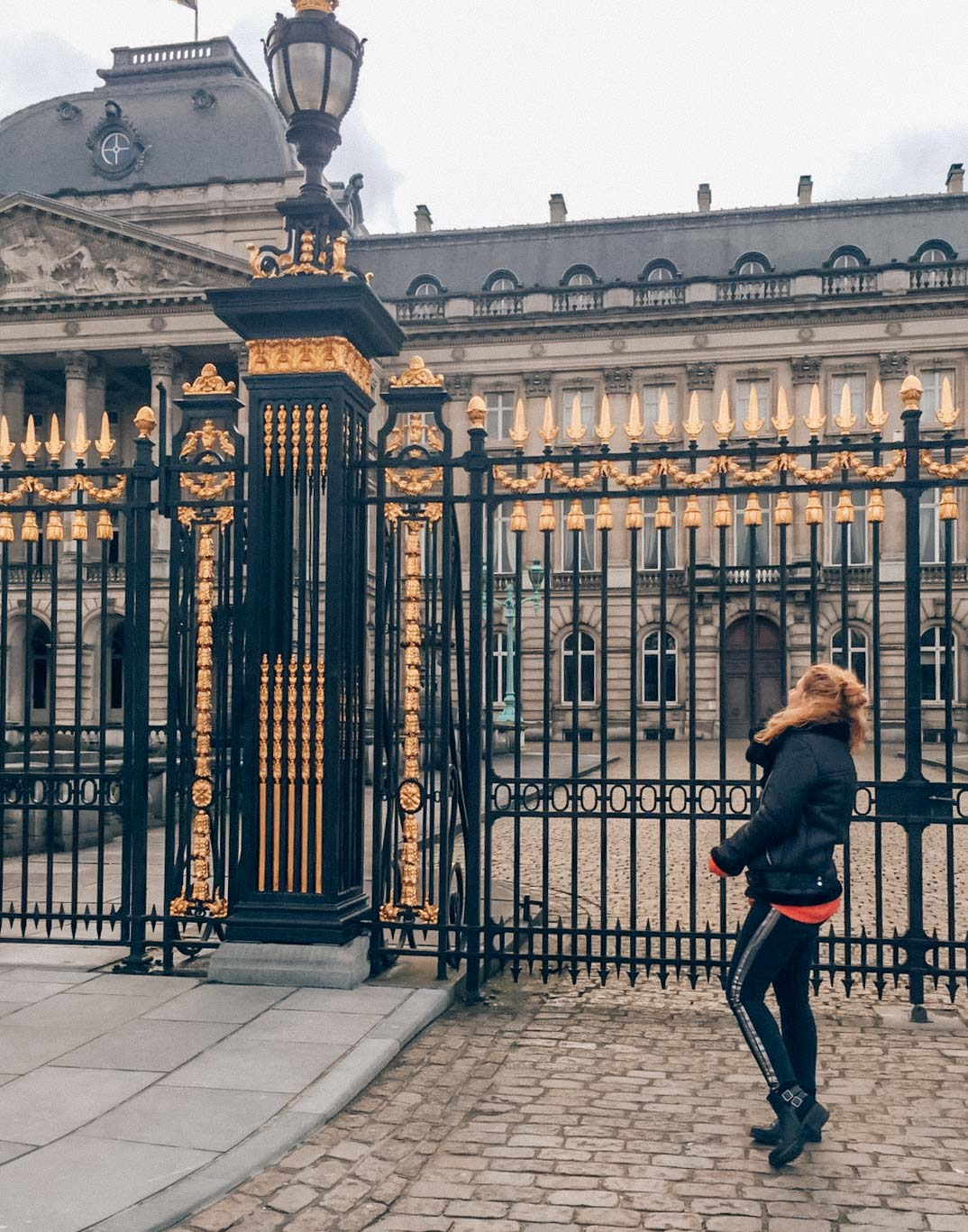 Royal palace of Brussels, golden details of the gate