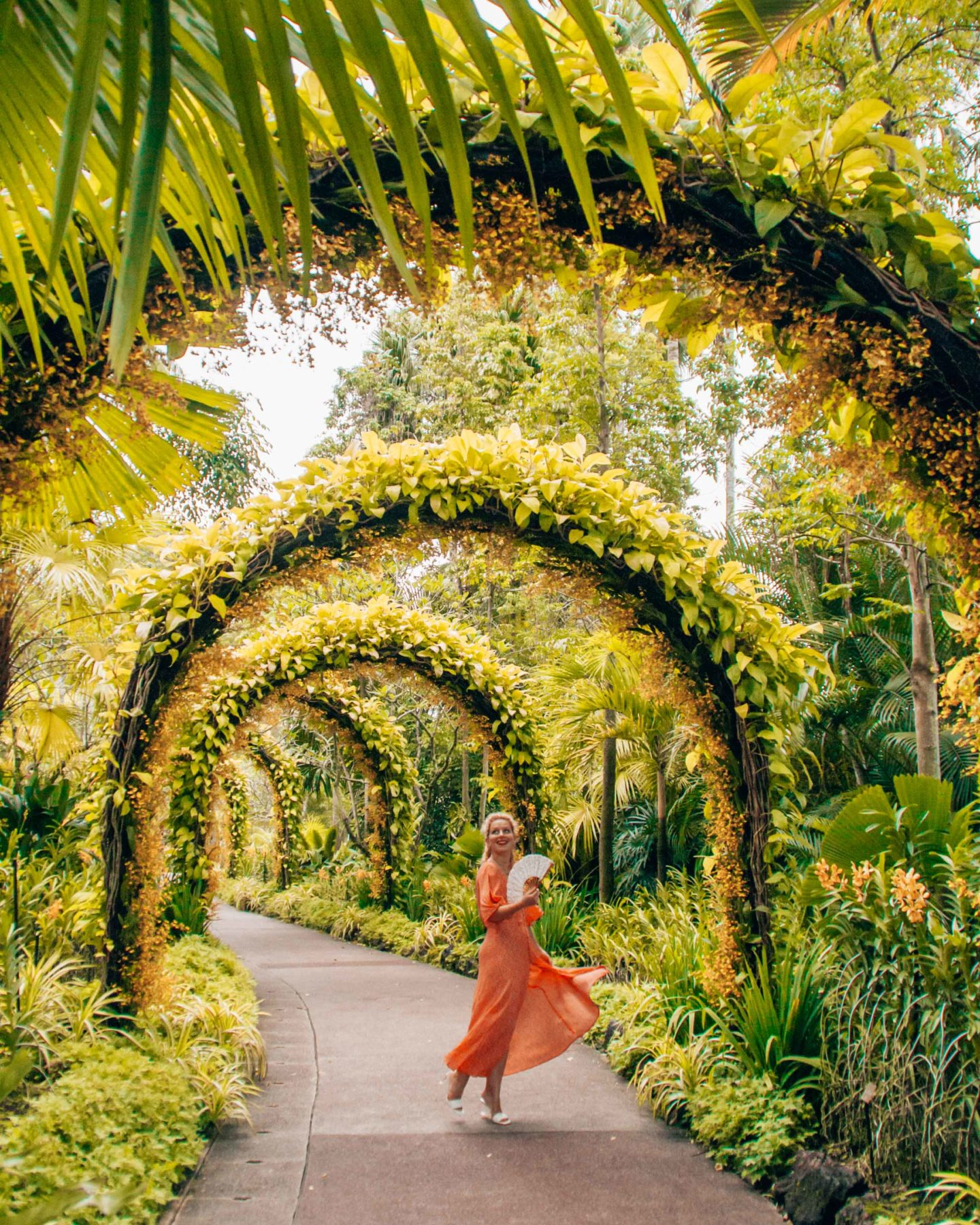 National Orchid Gardens archway, instagrammable spot in the Botanic Gardens, Singapore