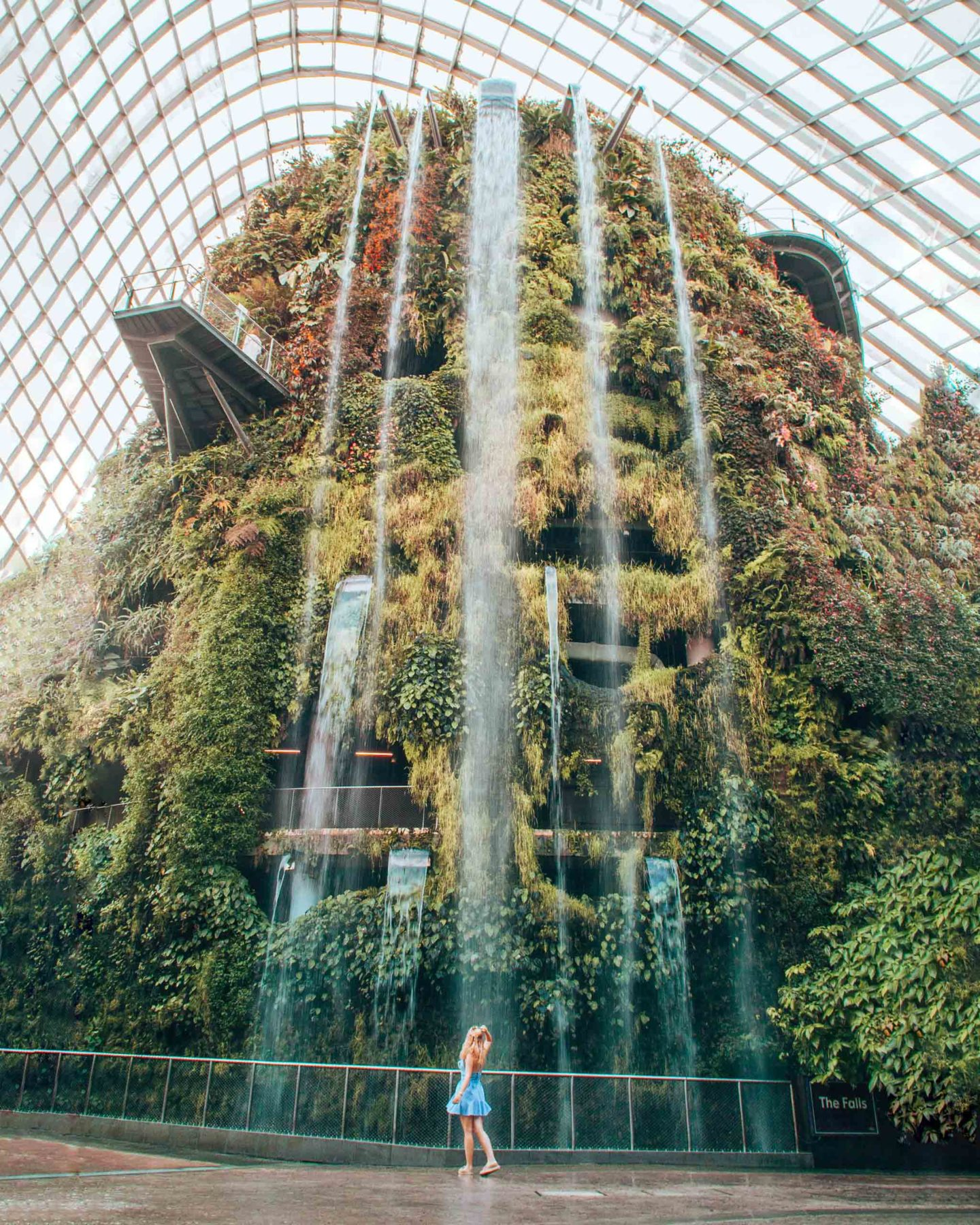 Cloud forest waterfall in the Gardens by the Bay, Singapore