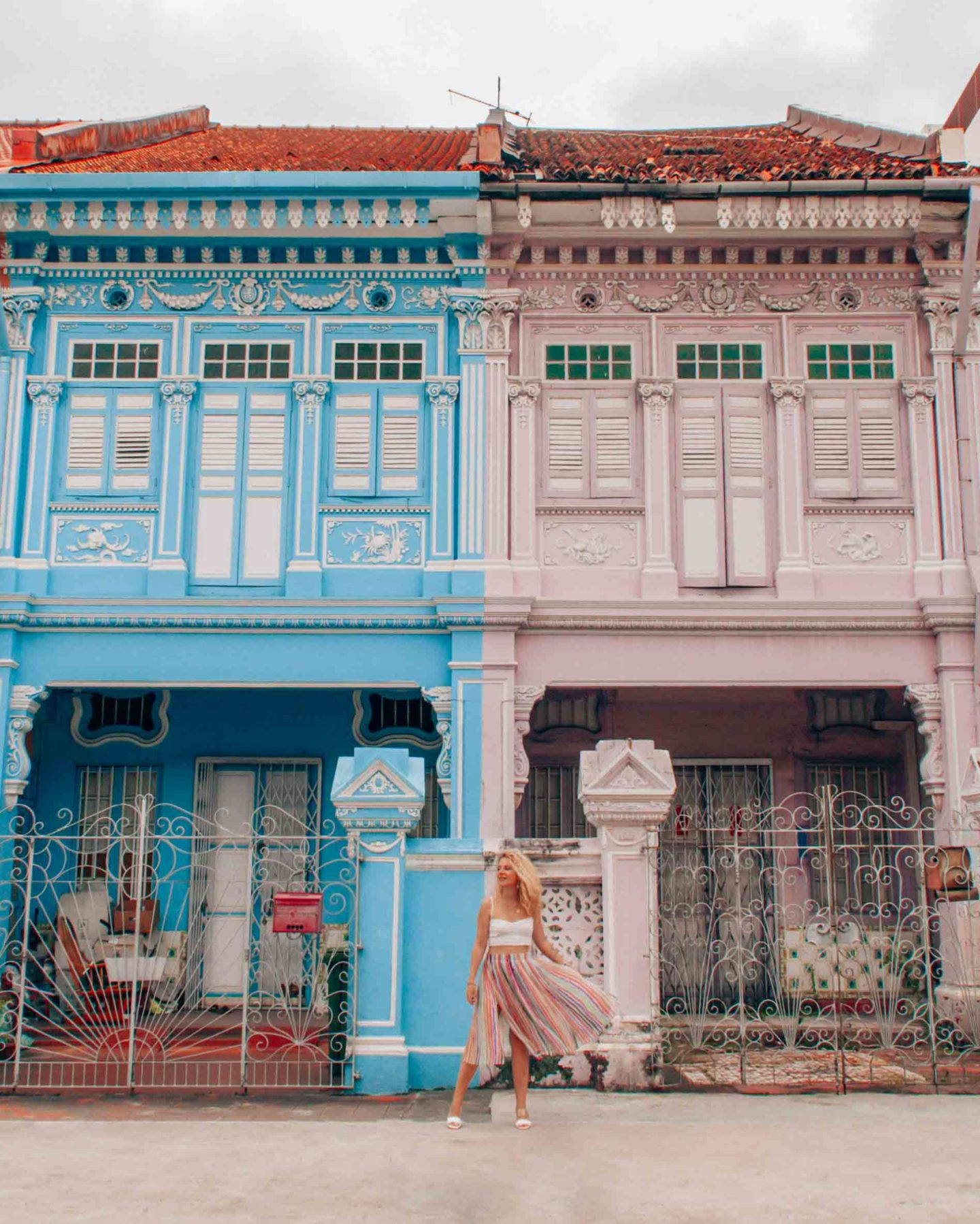 Traditional heritage shophouses in Singapore