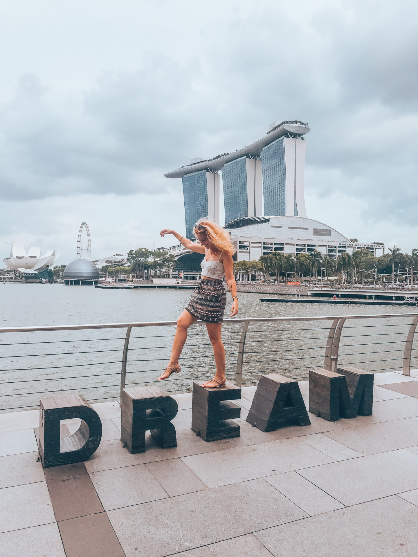 Dream sign in Marina Bay, instagrammable spot in Singapore