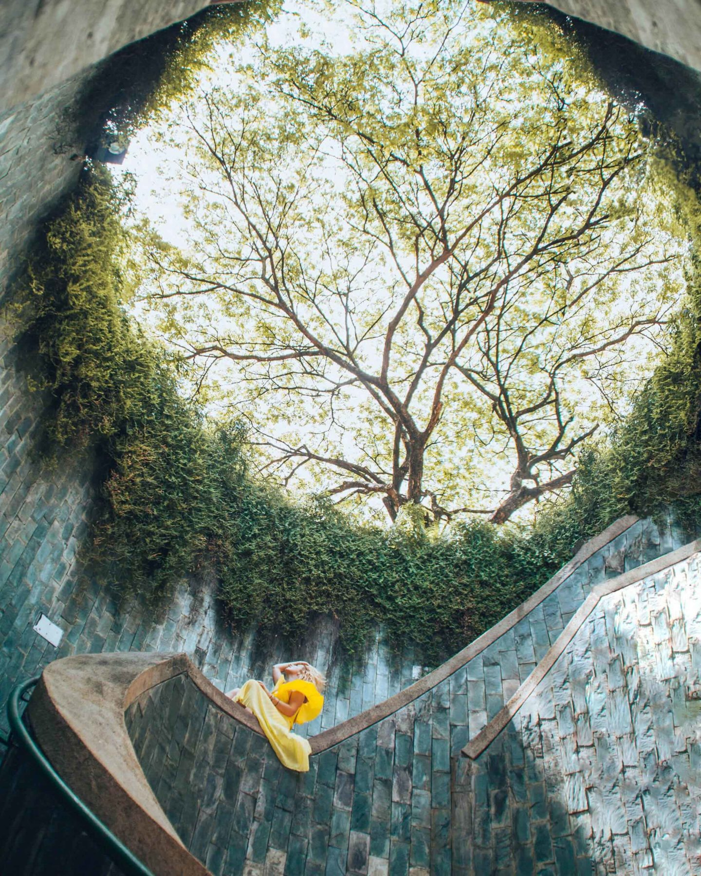Fort Canning Park spiral staircase, instagrammable spot in Singapore