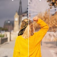 Golden foliage preset fall pack