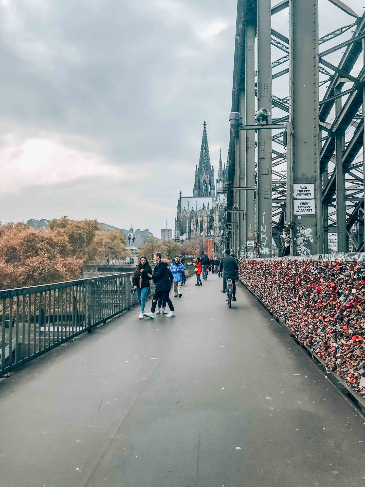 On the Hohenzollernbrucke in Cologne