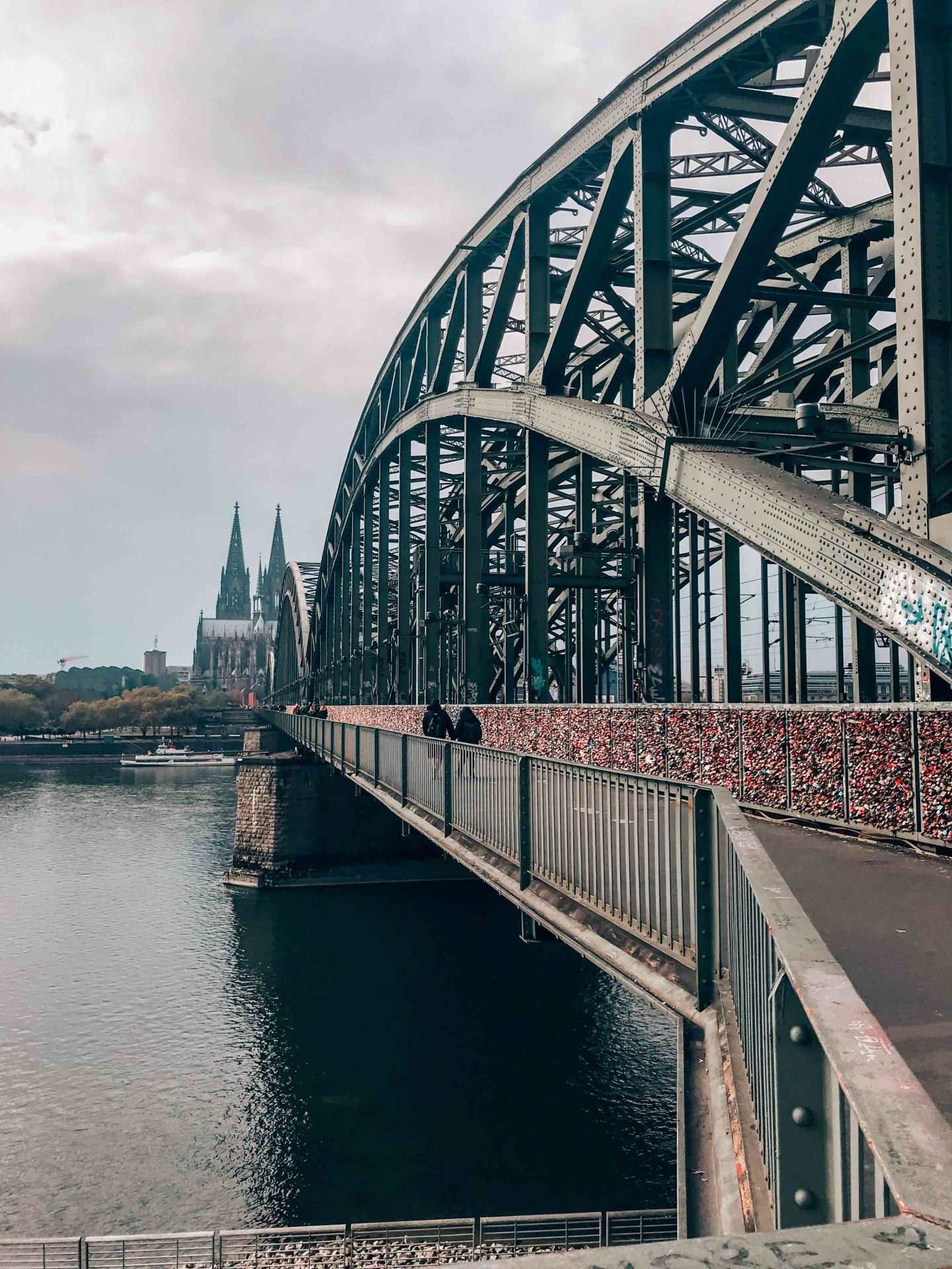 The Hohenzollernbrücke of Cologne