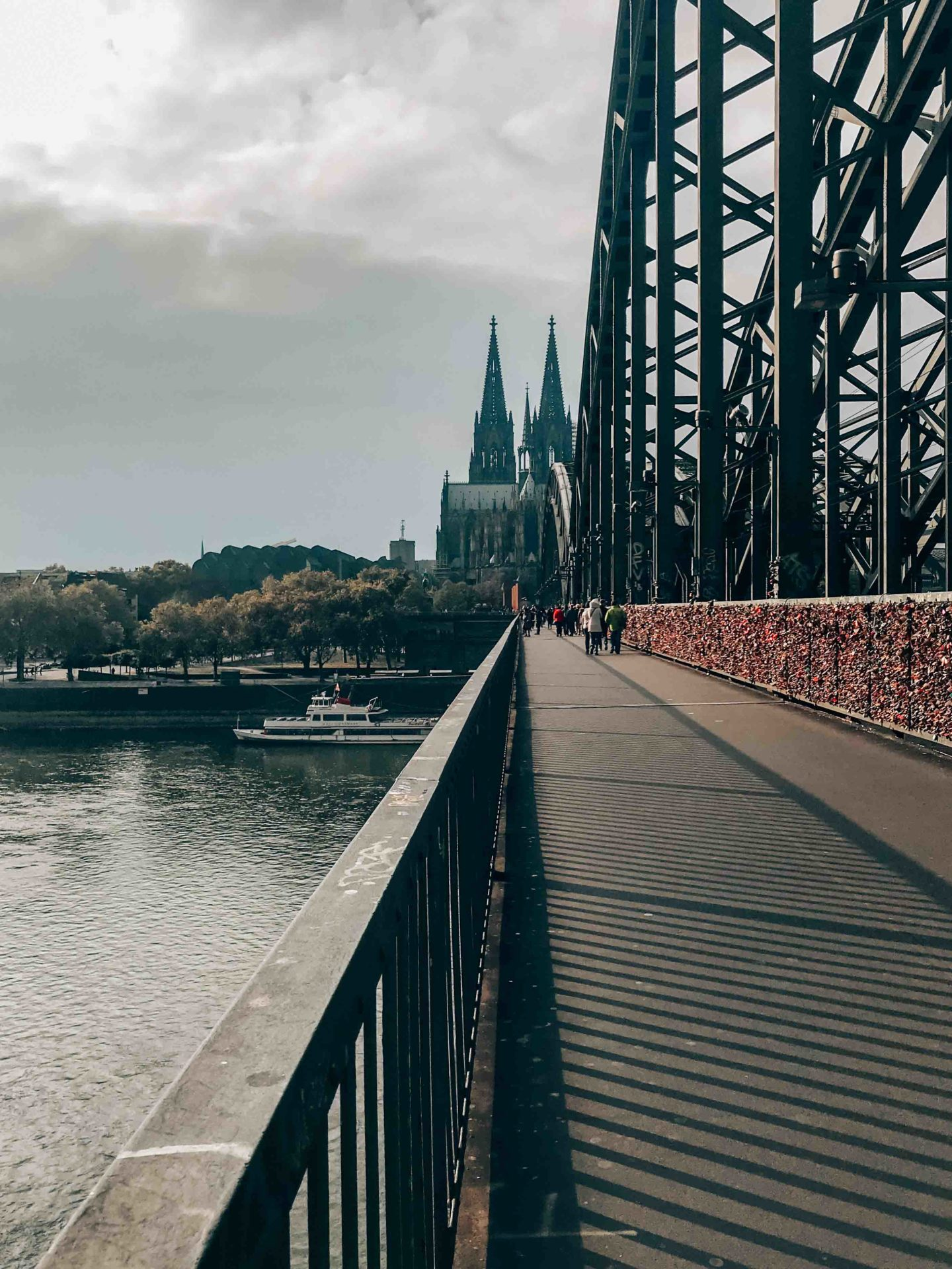 The Hohenzollernbrucke, the love locks bridge