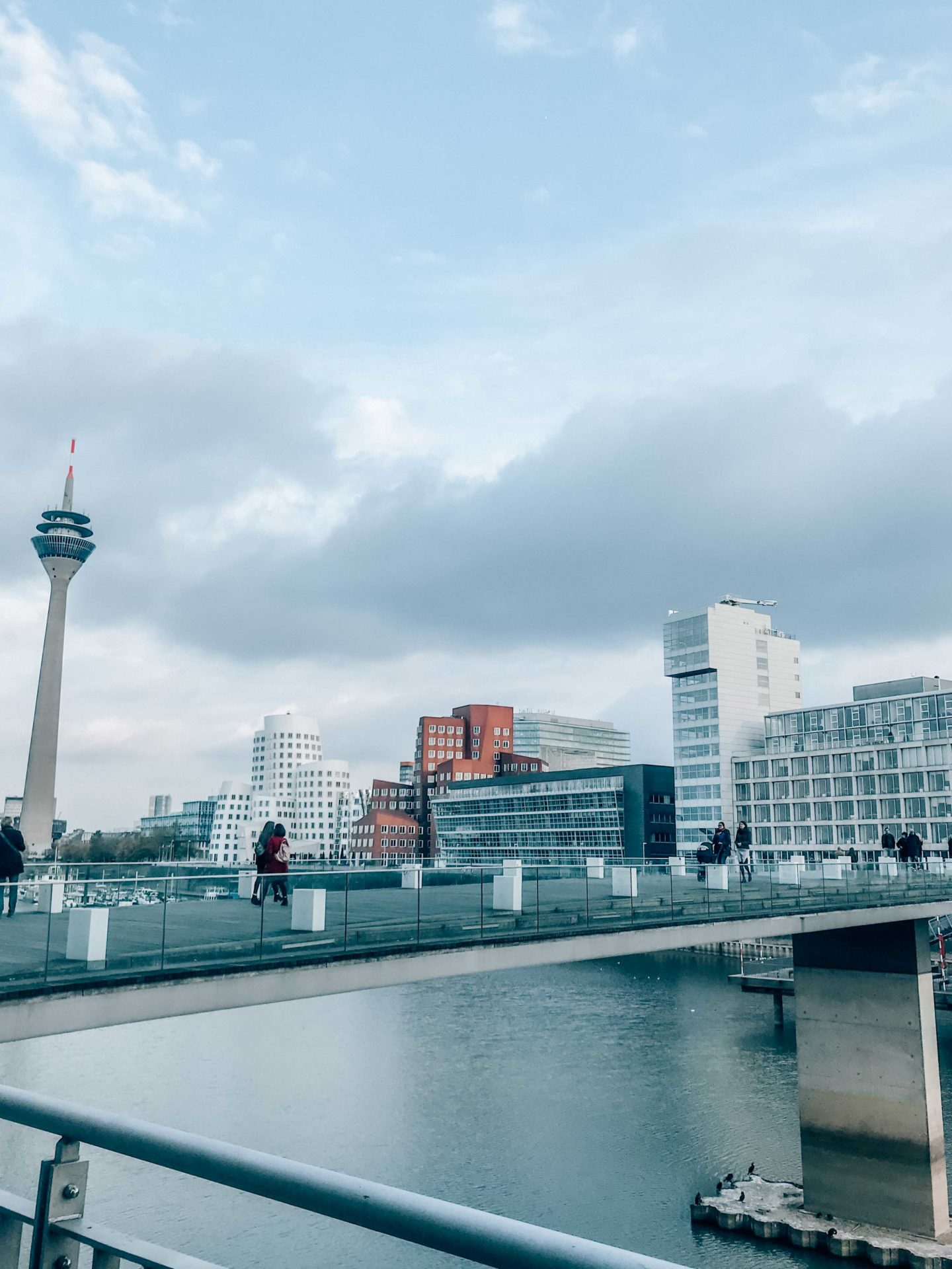 MediaHafen bridge and area, Düsseldorf