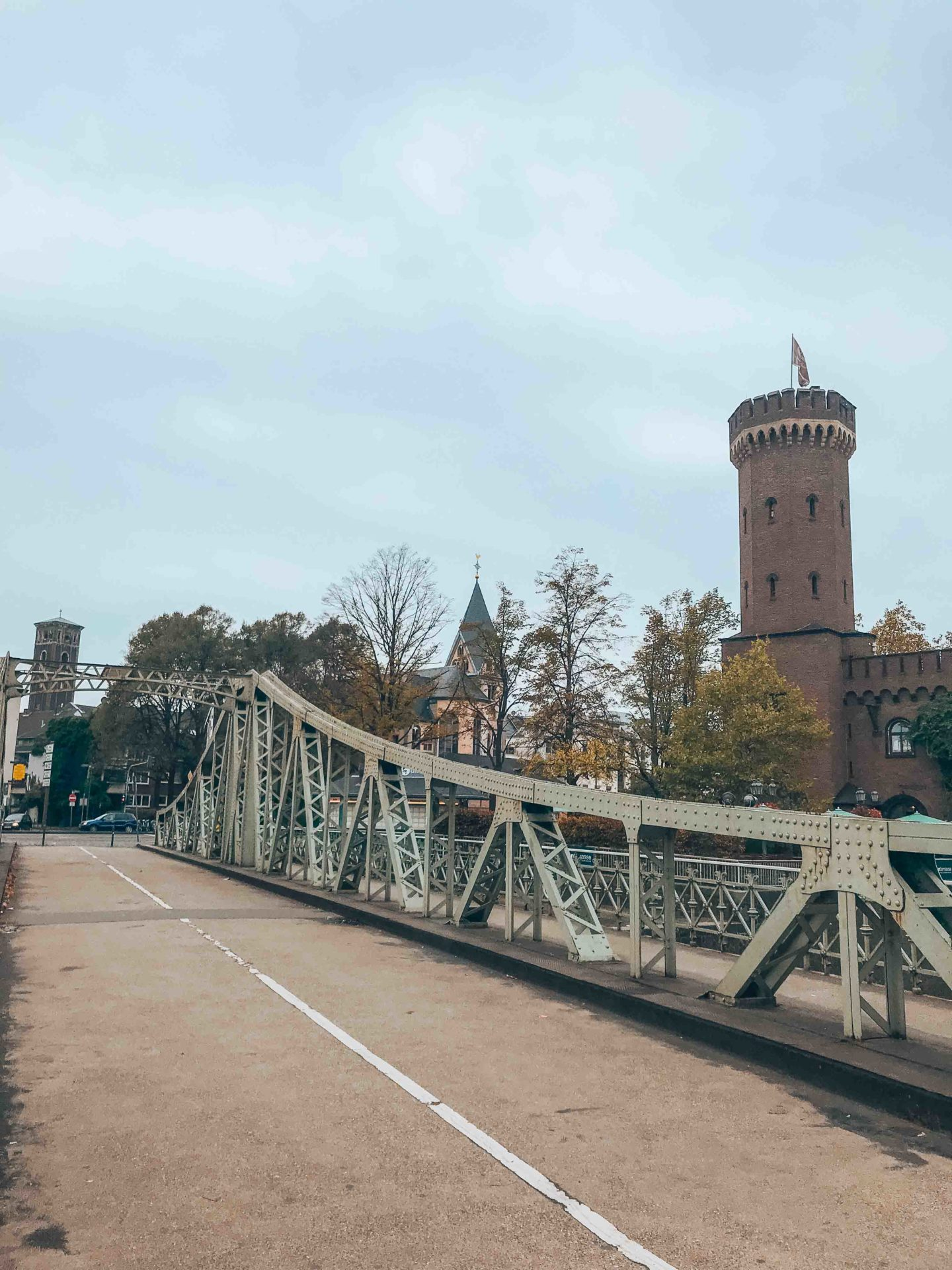 The Malakoffturm and Drehbrücke swing bridge, Cologne