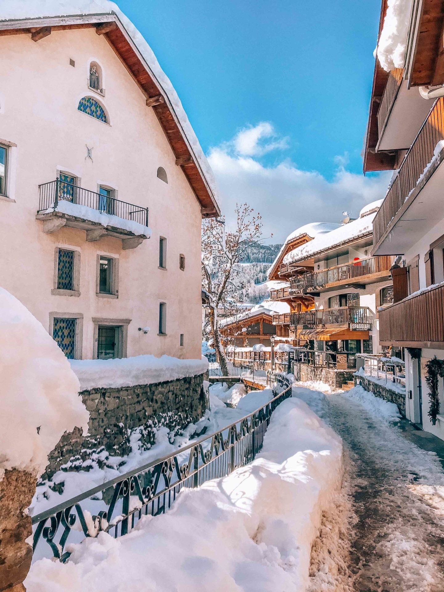 The charming streets of Megeve, France