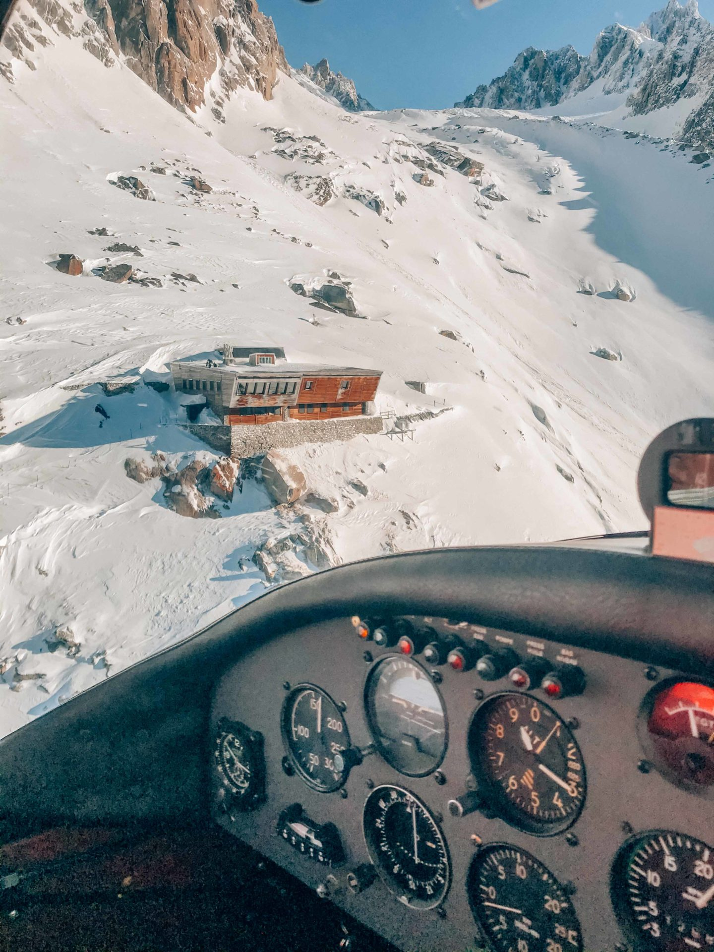 Flight views in the French Alps