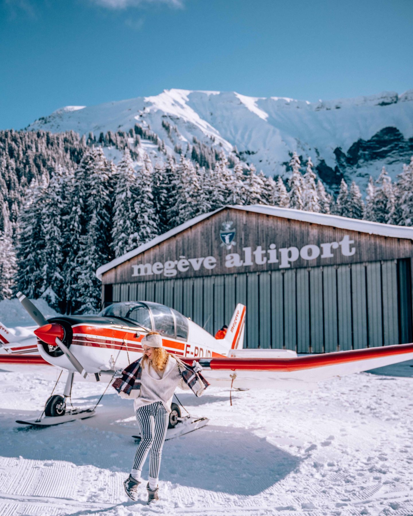 Ready to fly above the Mont Blanc