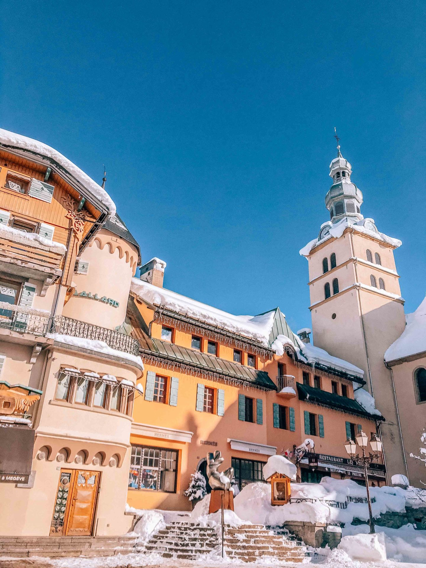 French mountain village charm in Megeve
