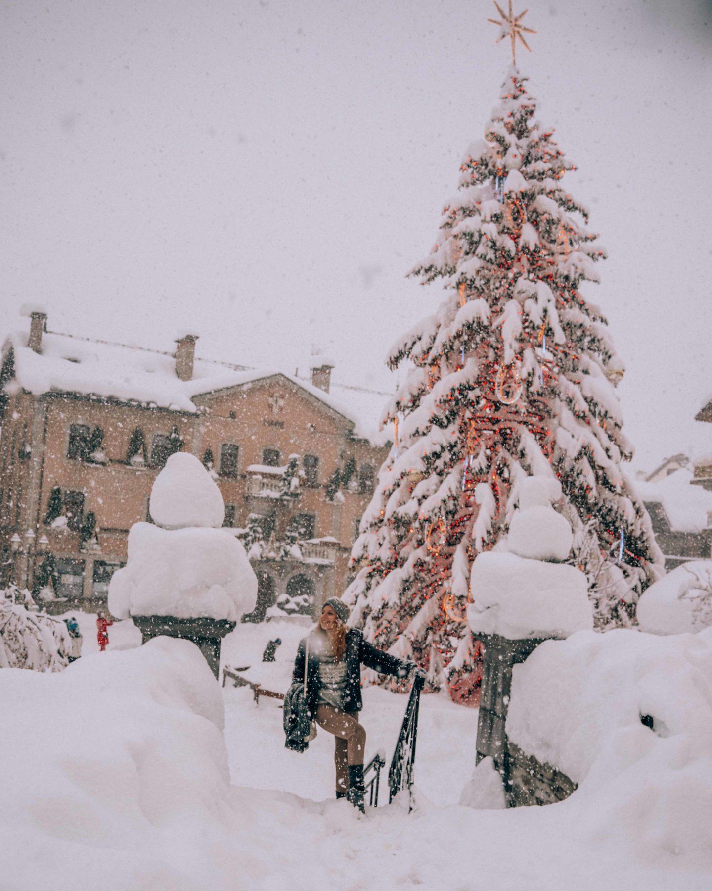 Megeve center under the snow