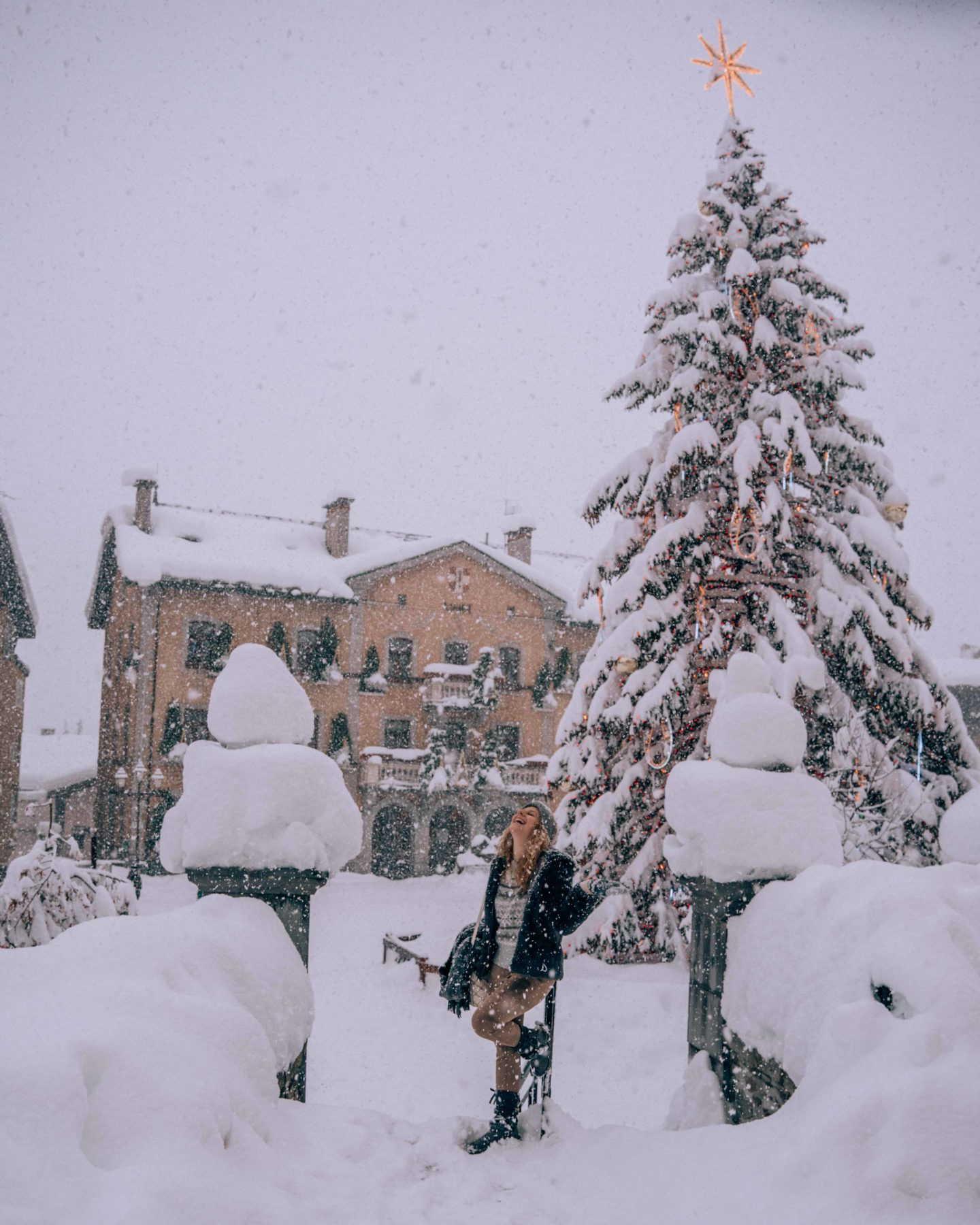 Playing under the snow in Megeve