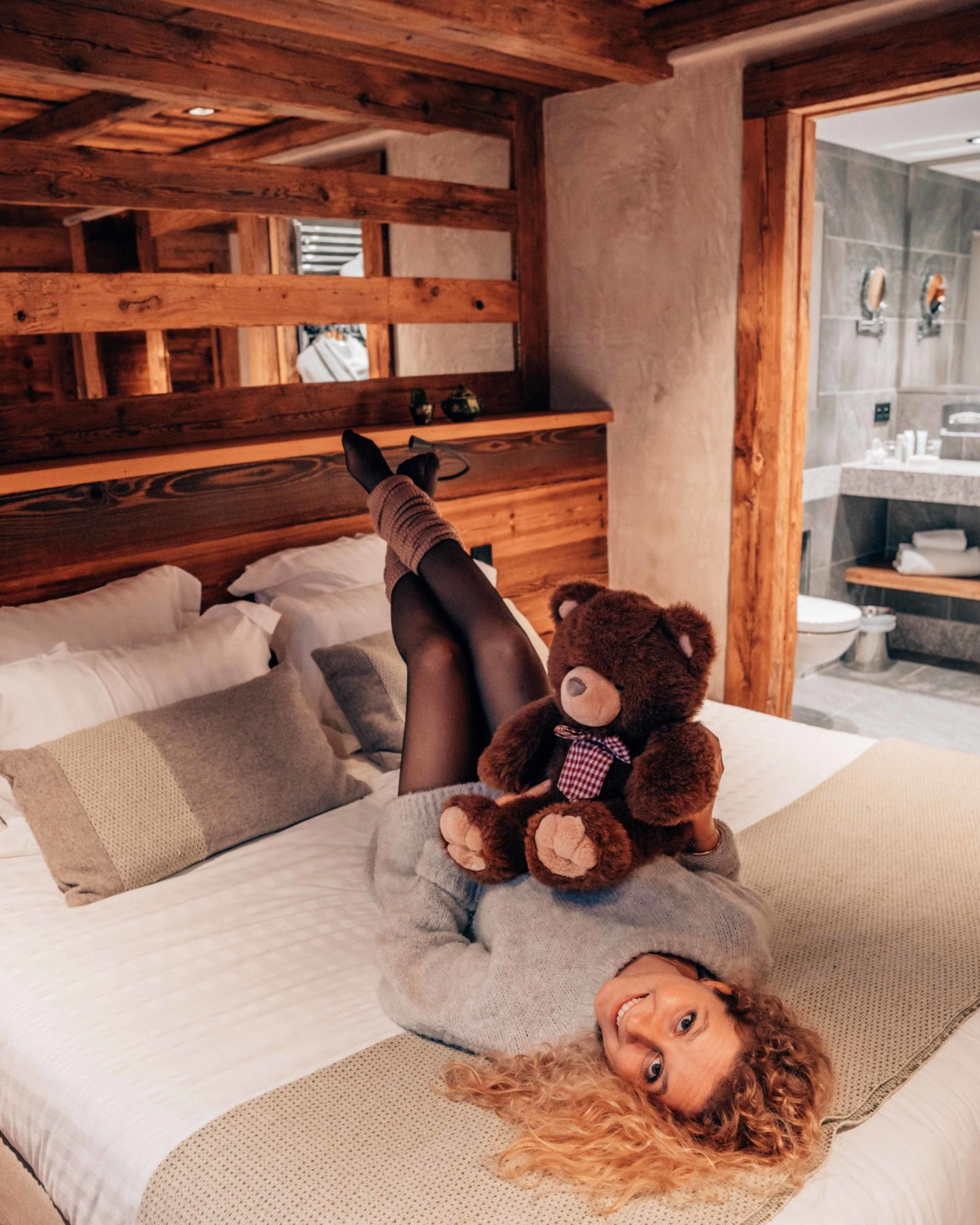 Mountain cabin hotel room in Megeve