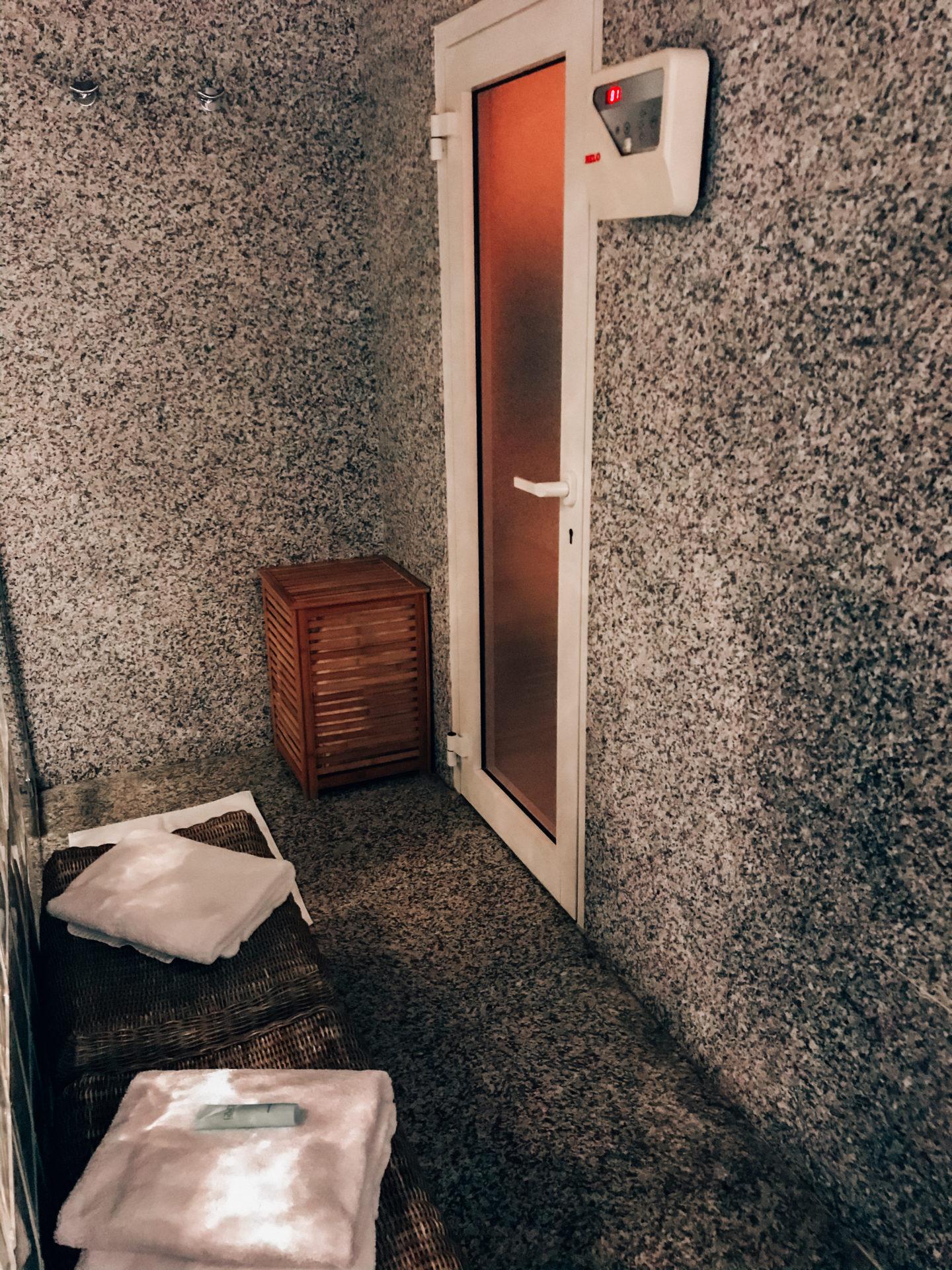 Sauna at the hotel Au Coin du Feu, Megeve