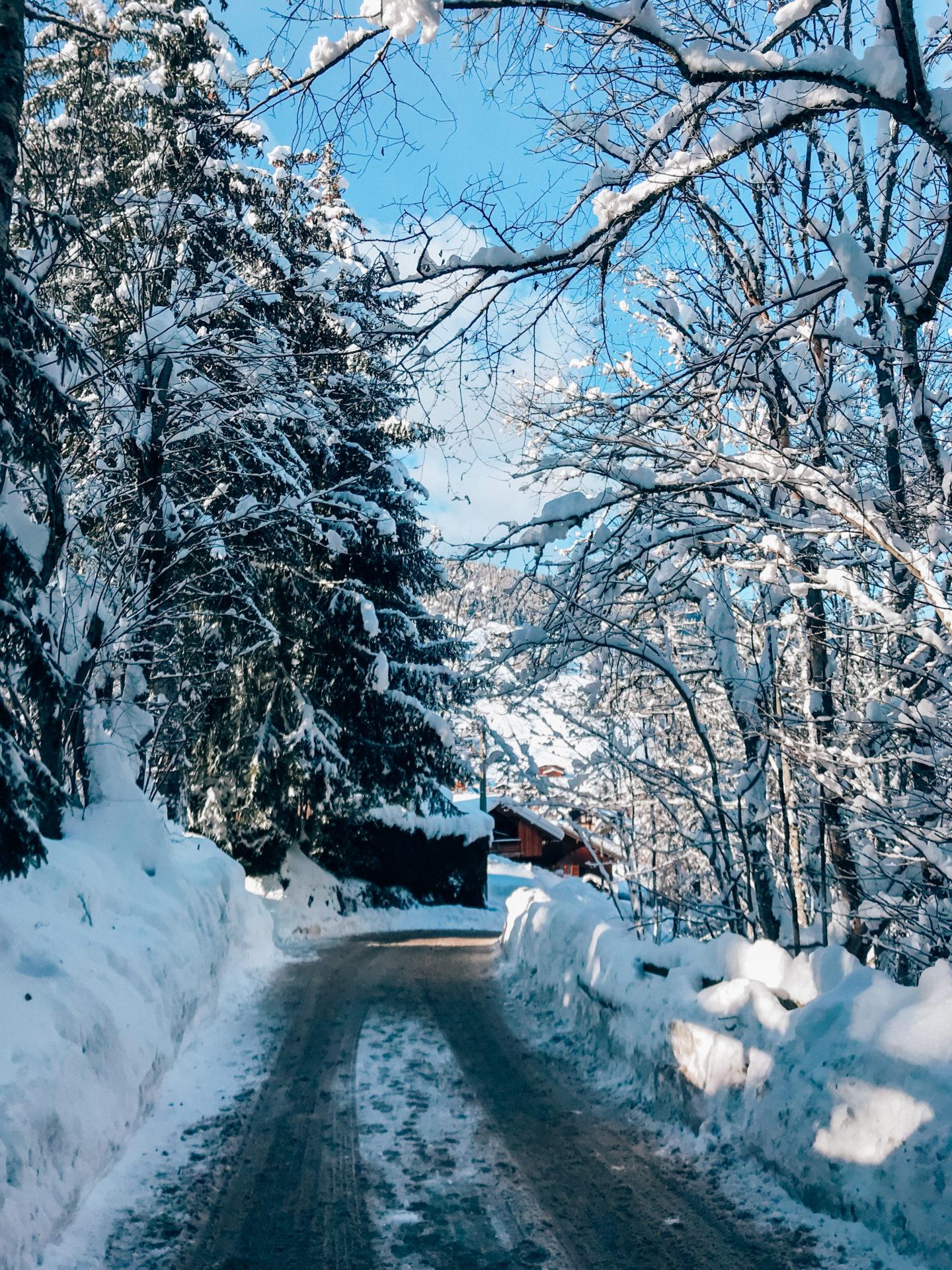 Snowy roads views