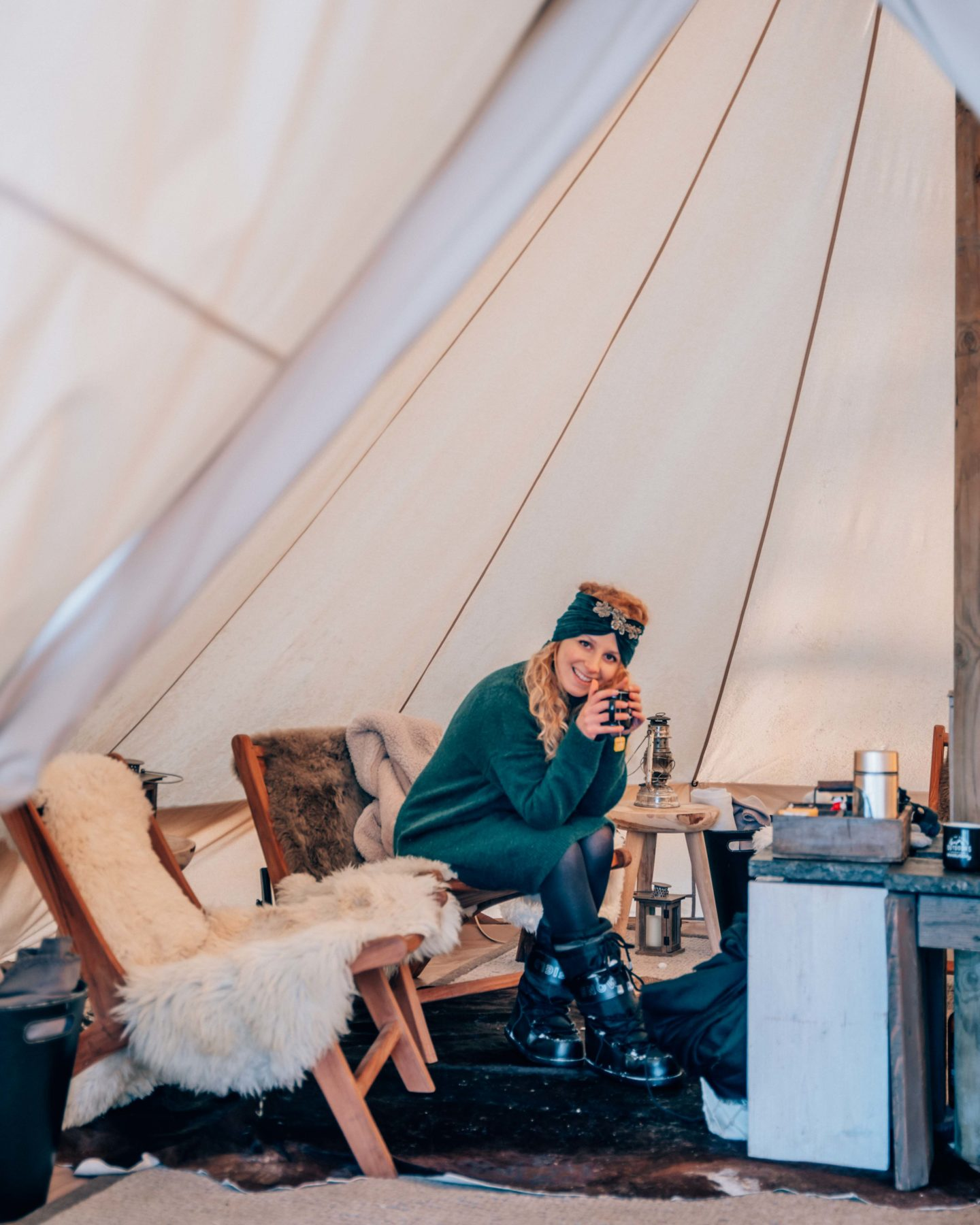 Tipi in the mountains of Megeve